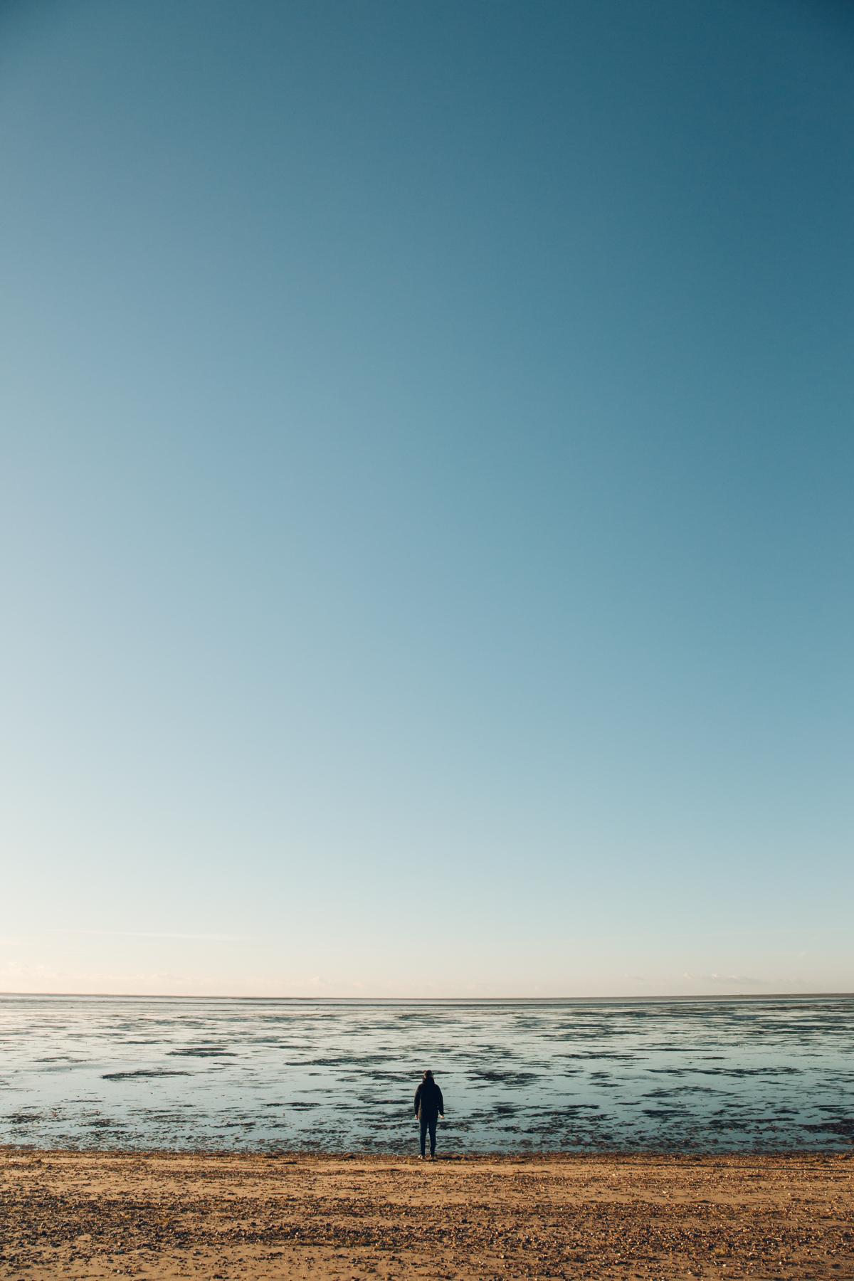Snettisham Beach in North Norfolk.