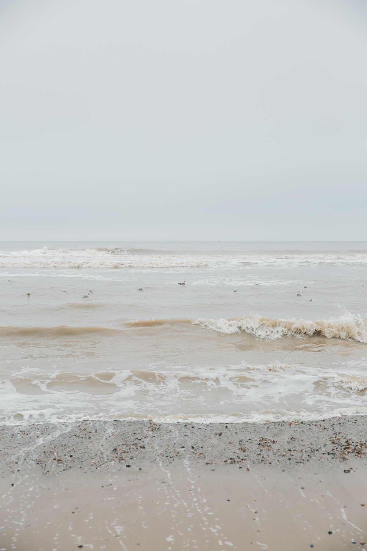 The sea at Mundesley on the North Norfolk coast.