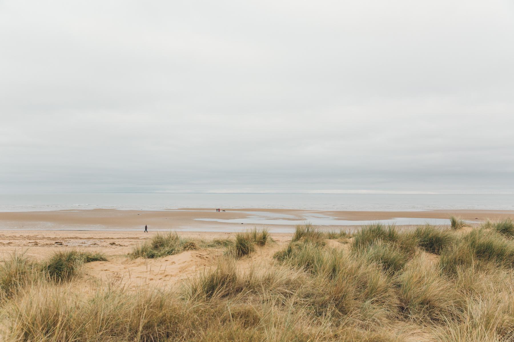 Old Hunstanton beach on the North Norfolk coast.