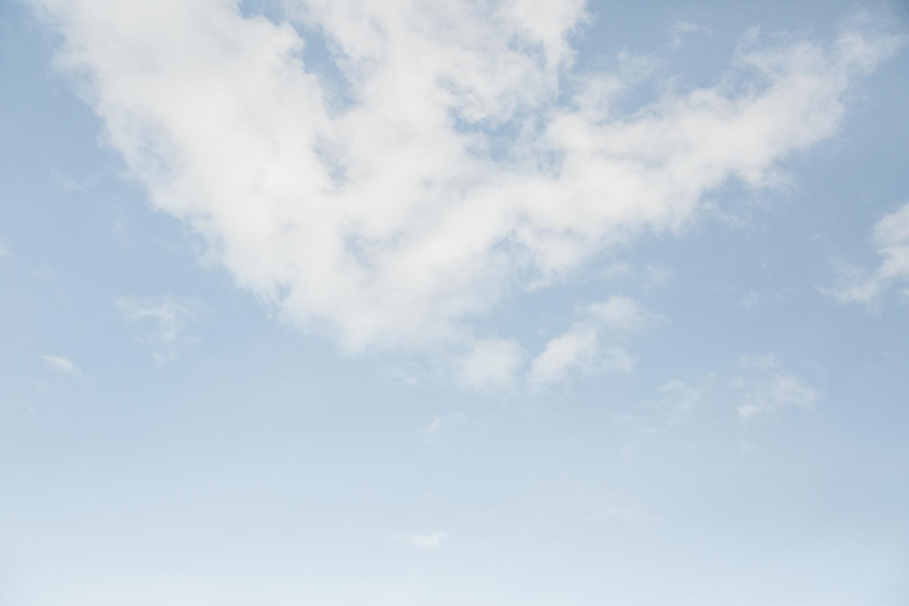 Blue sky on Tynemouth beach.