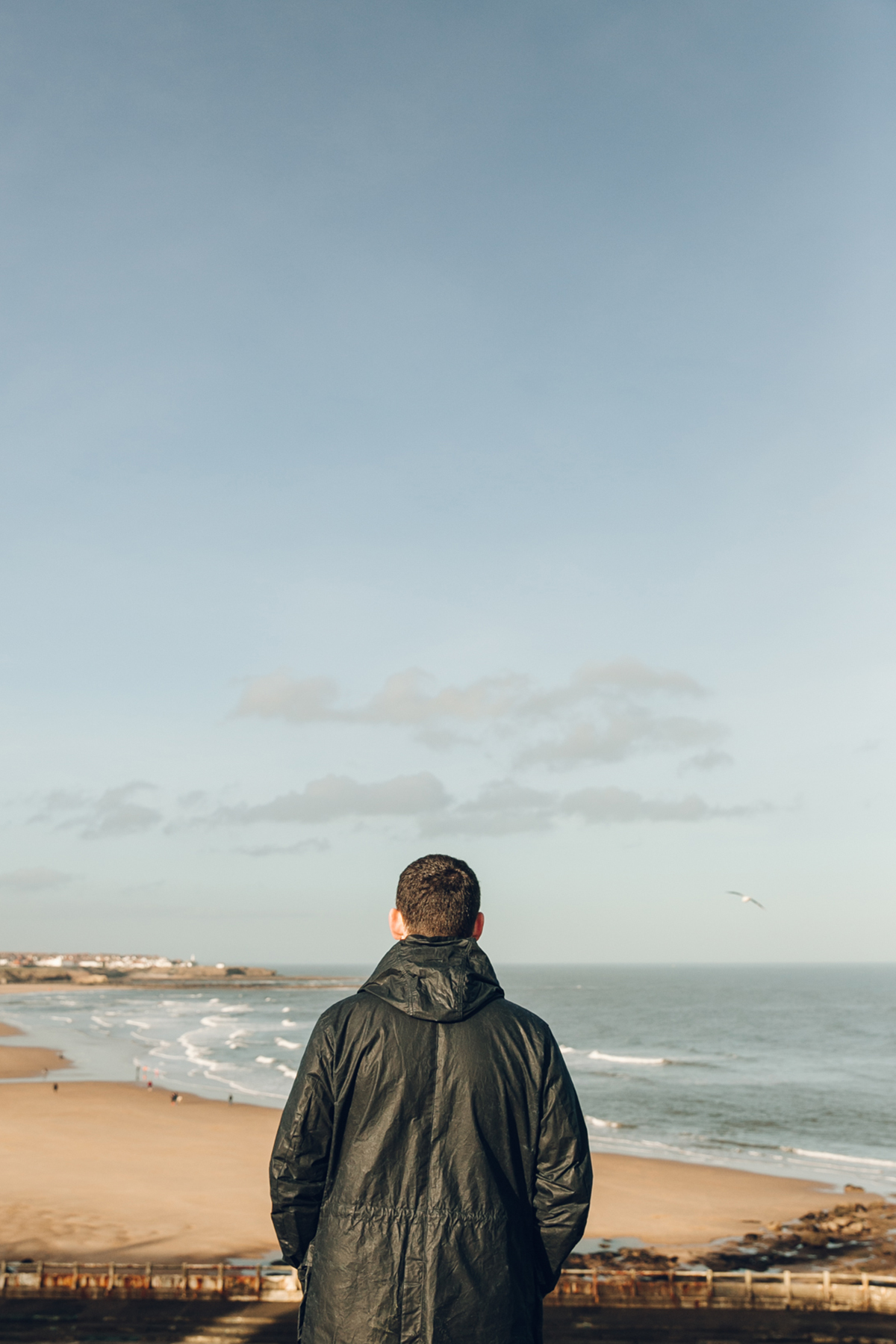 Looking over the old Lido on Longsands beach in Tynemouth.
