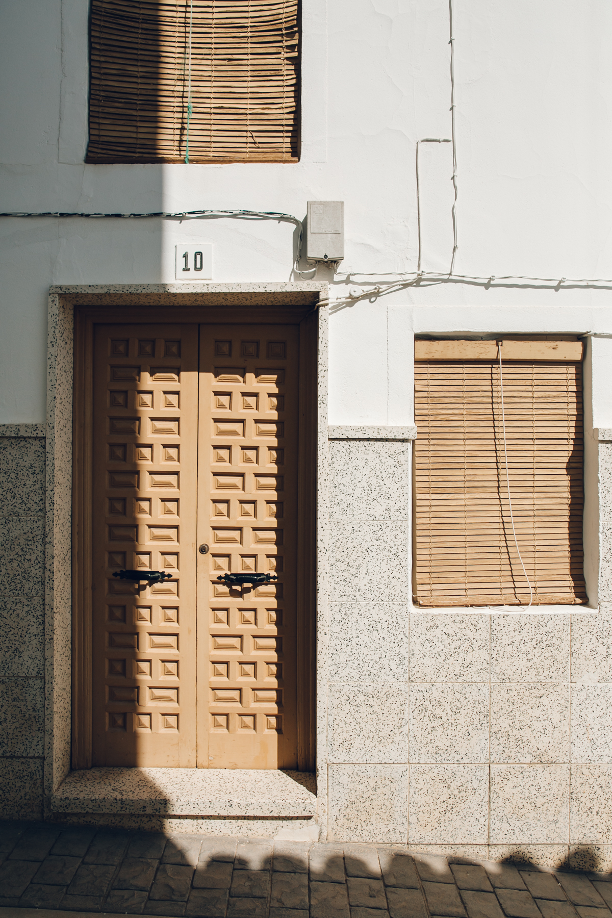 Sunlight and shadows on a Spanish home in Andalusia.
