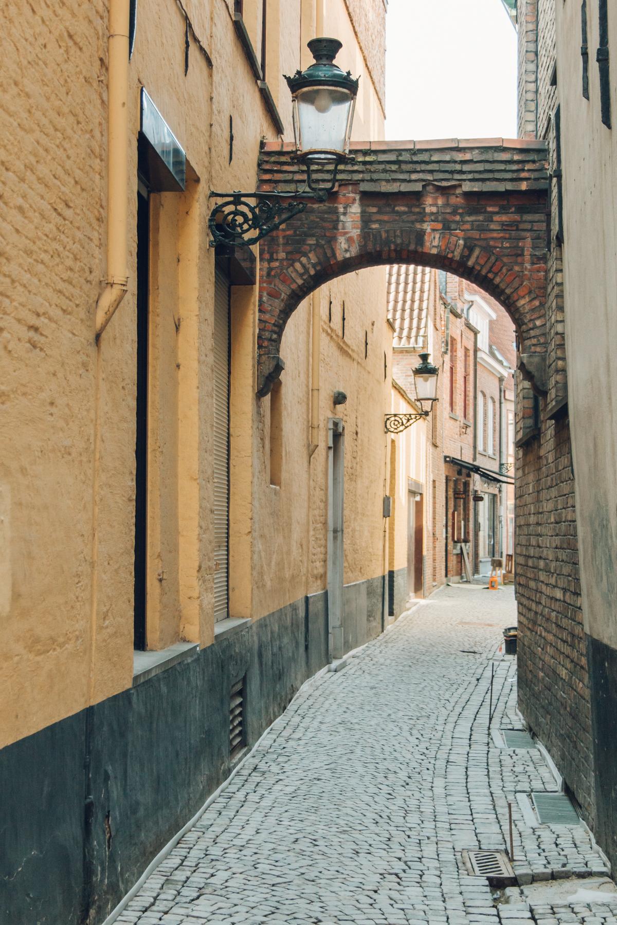 Exploring architecture in Bruges, Belgium.