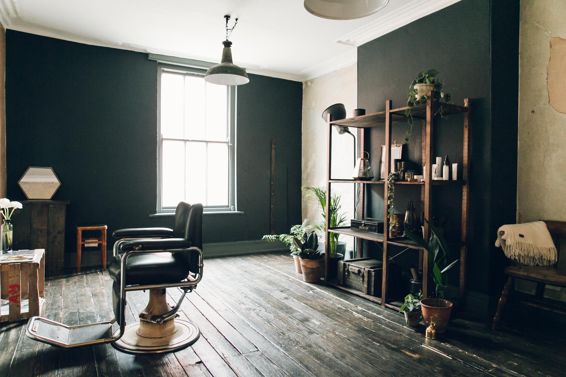 Inside Kojo & Lee, a plant-filled hair salon in Sheffield.