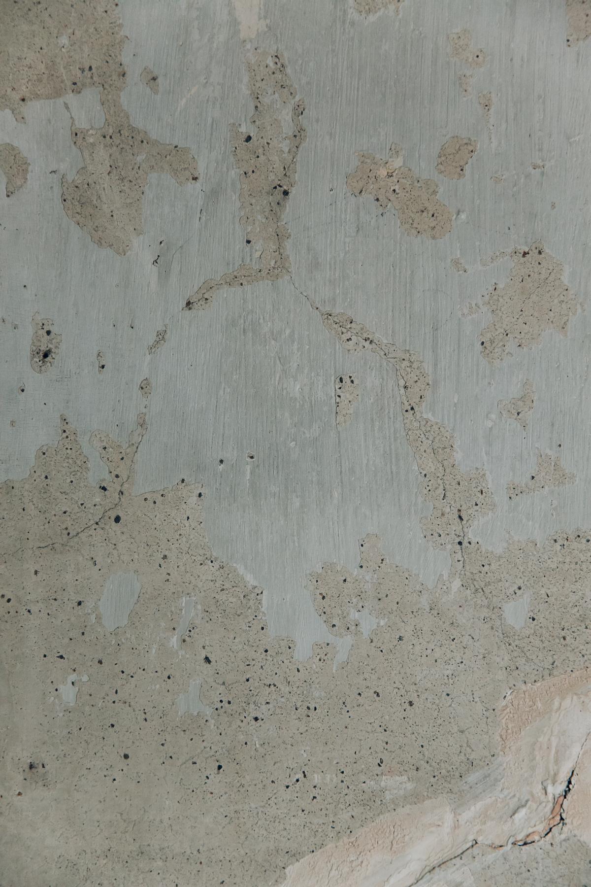 Raw plaster walls.