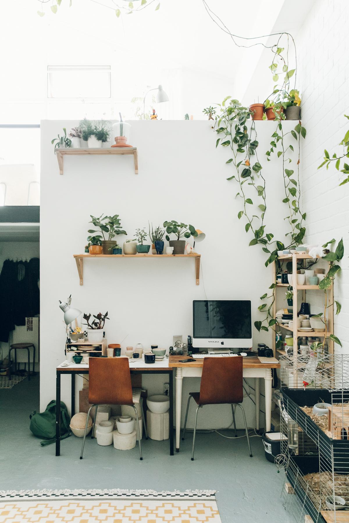 Inside Studio Hear Hear's ceramic studio in Amsterdam.