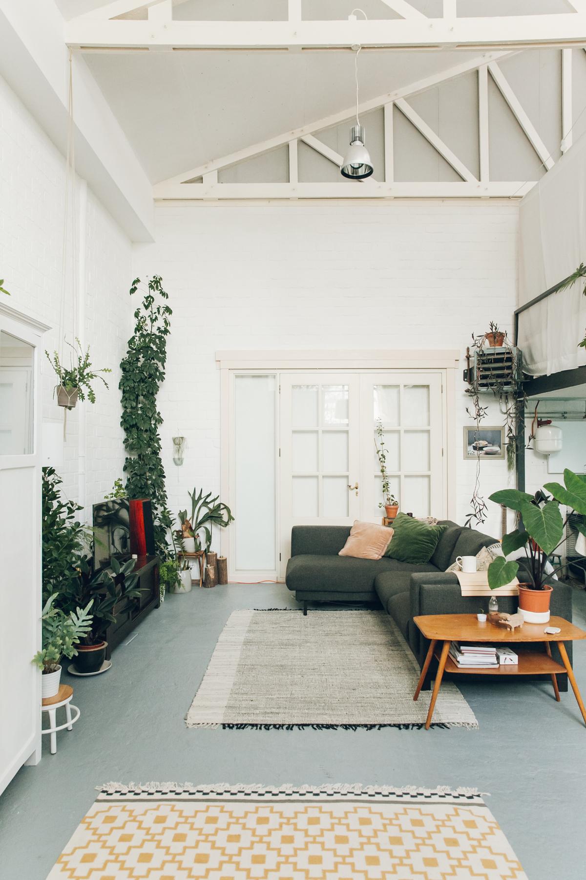 The plant-filled ceramics studio of Studio Hear Hear in Amsterdam.