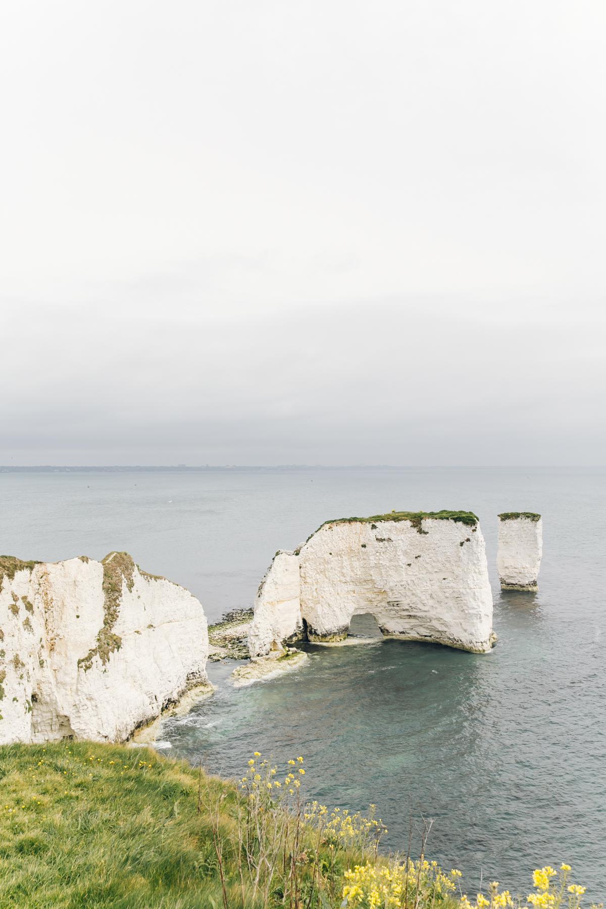 Old Harry rocks in Dorset.