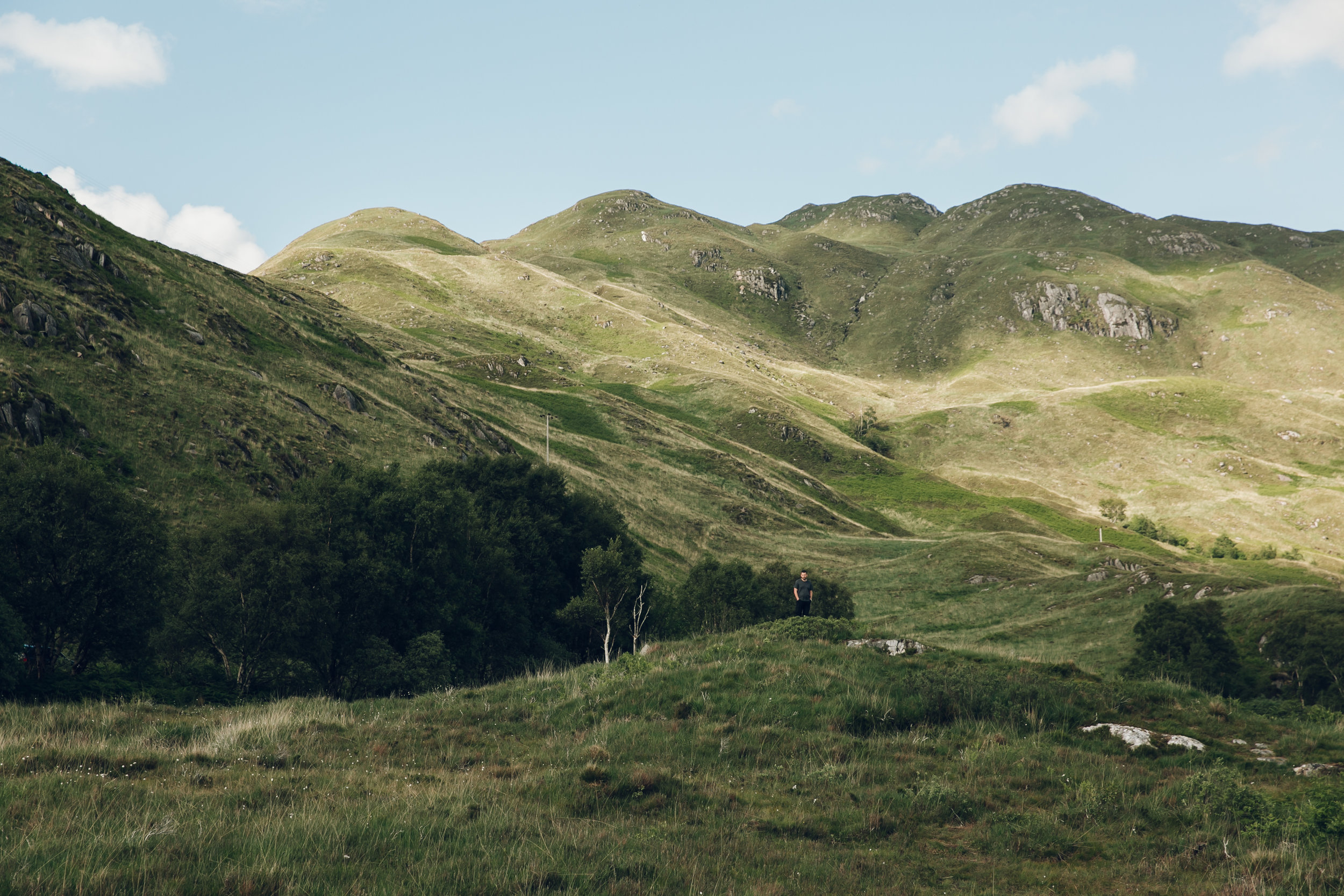 Scotland in the Summer.