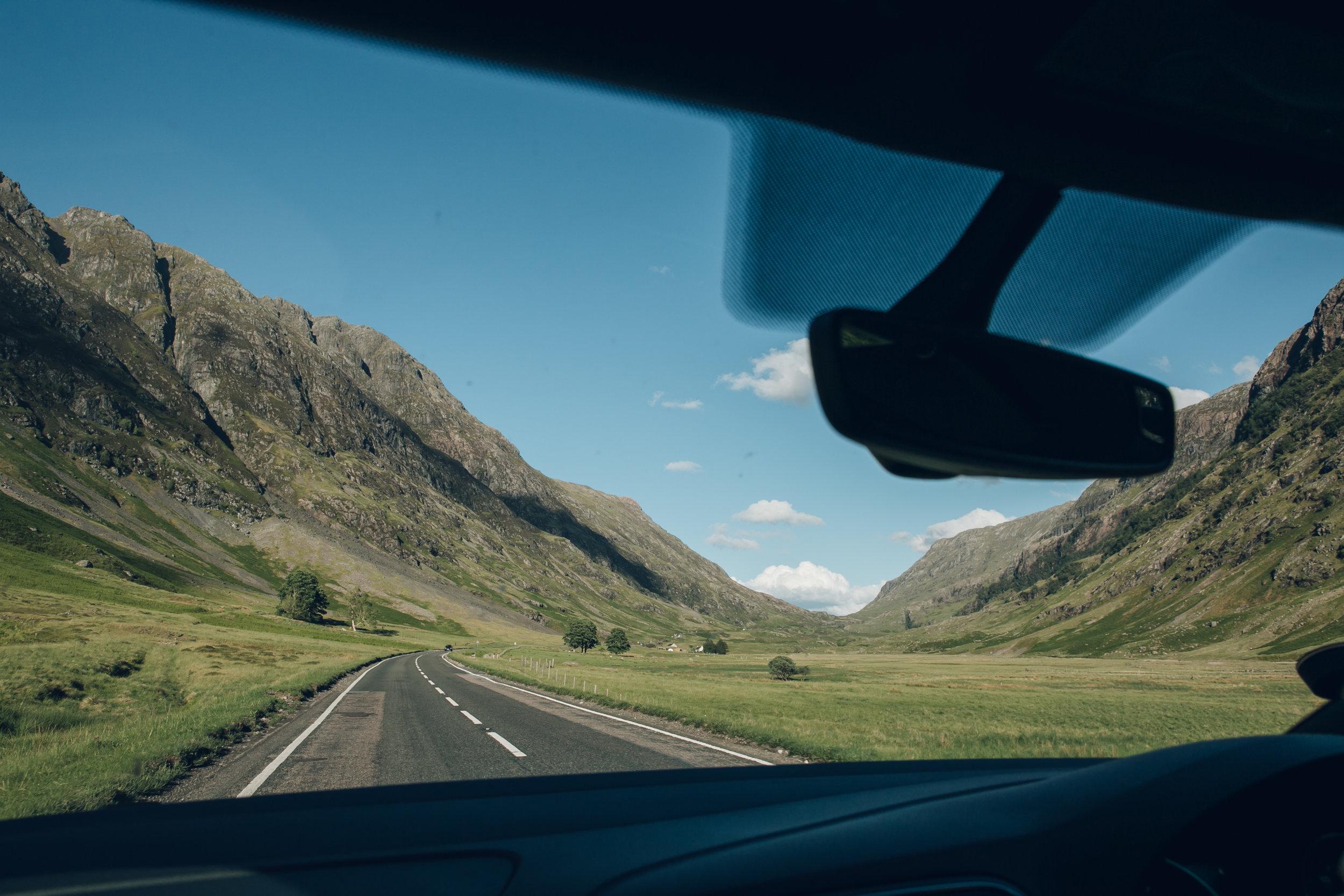 Scotland in the Summer - driving through Glencoe.