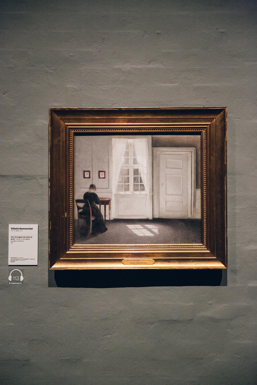 Vilhelm Hammershoi at SMK Gallery in Copenhagen.