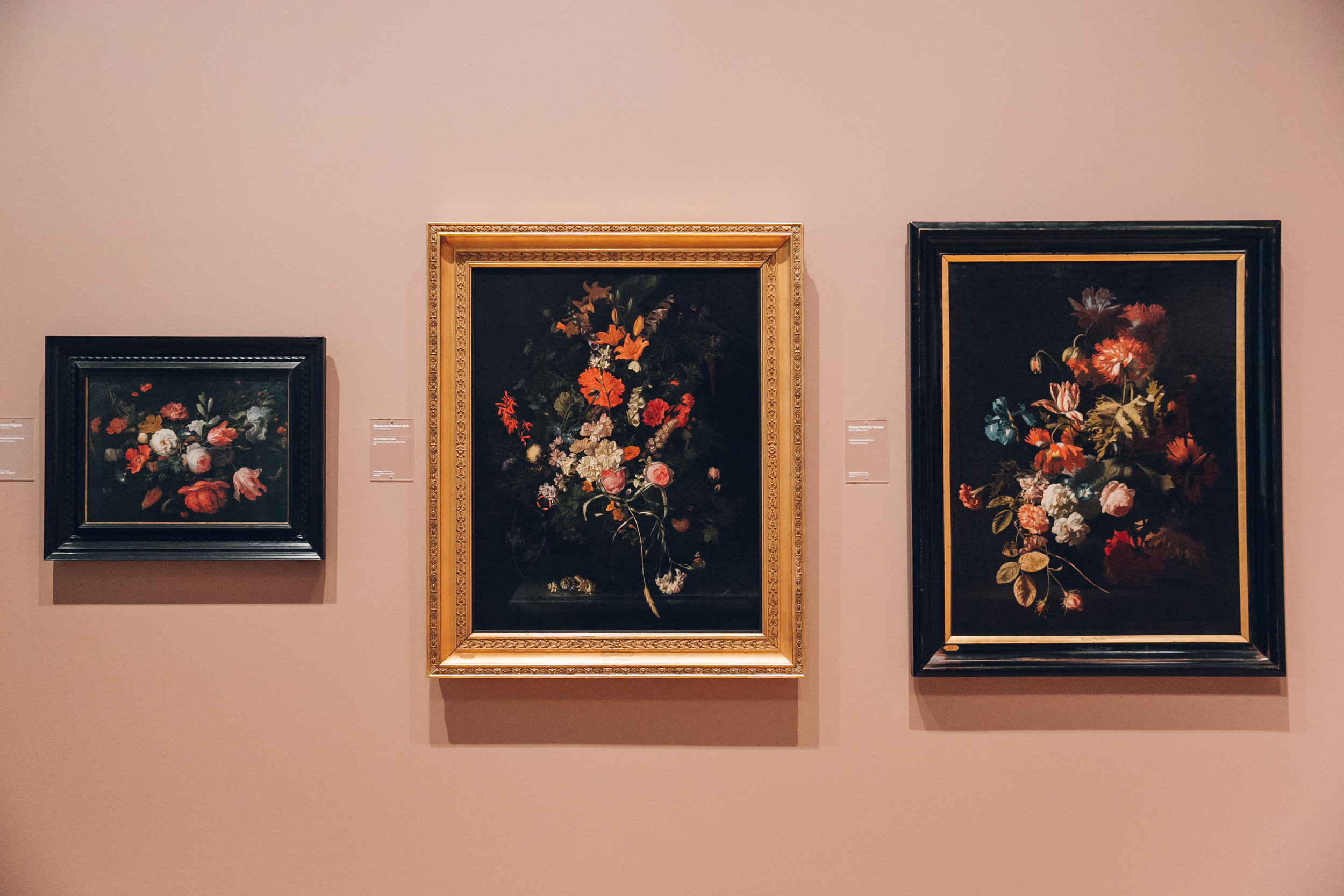 Still life floral paintings at SMK gallery in Copenhagen.