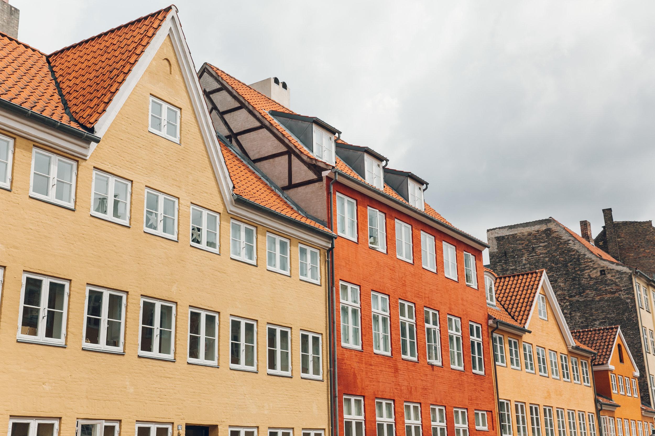 Traditional streets in Copenhagen.