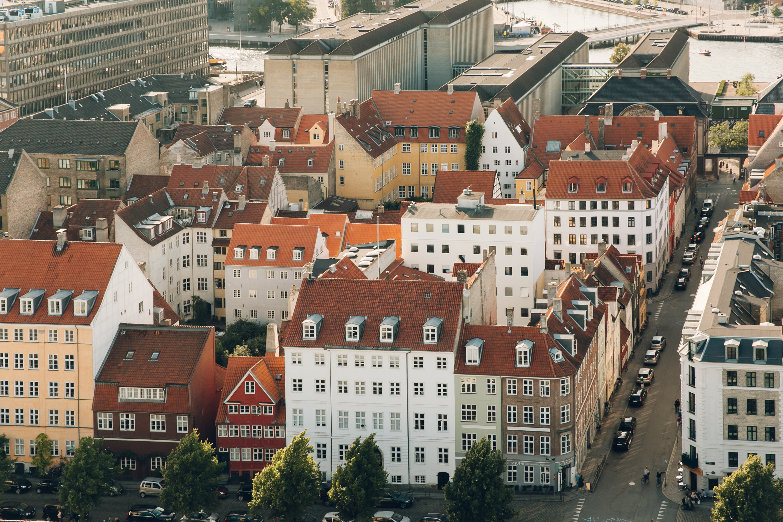72 hours in Copenhagen - the view from the roof of the Church of Our Lady.
