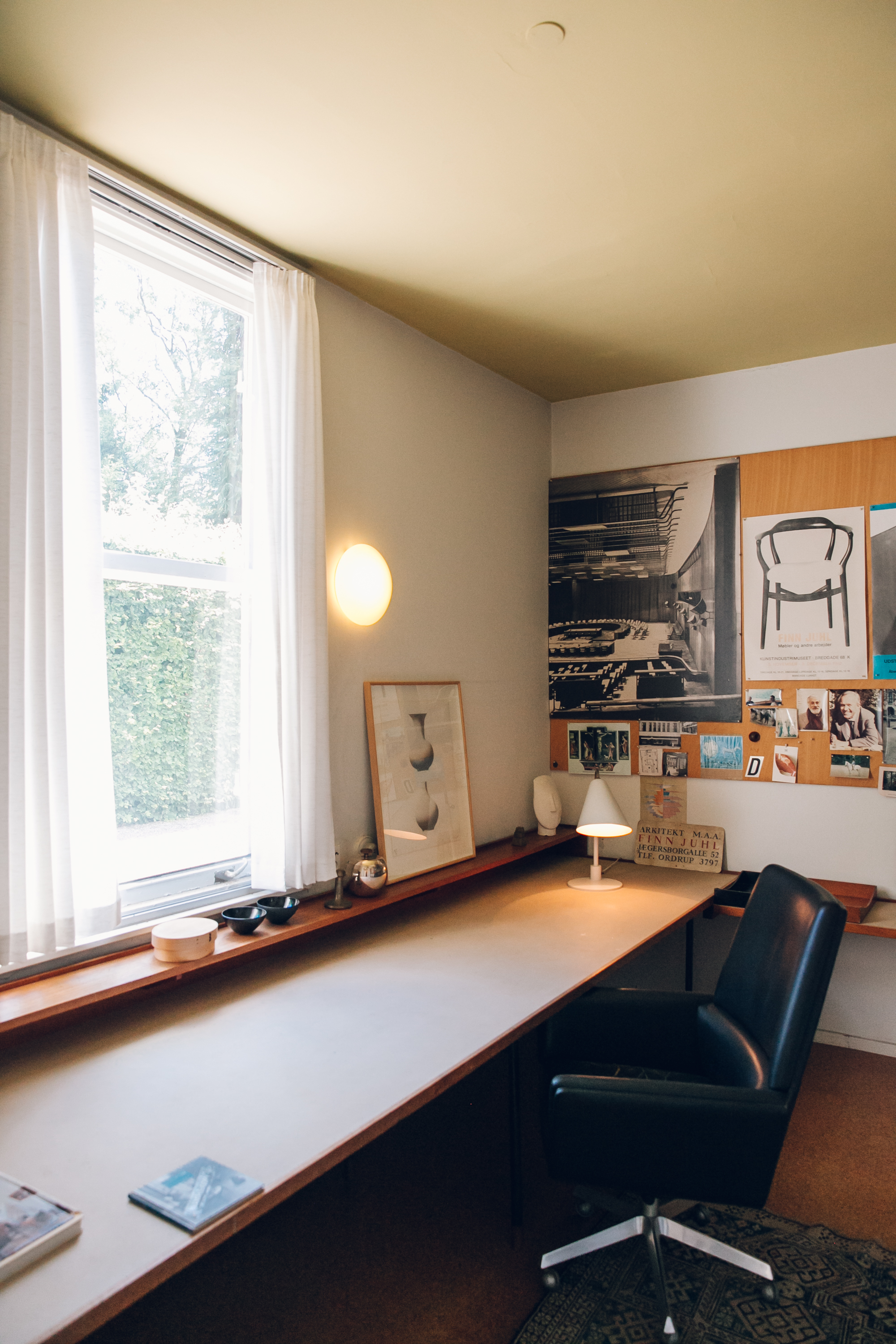 Office and Studio at Finn Juhl's House Copenhagen