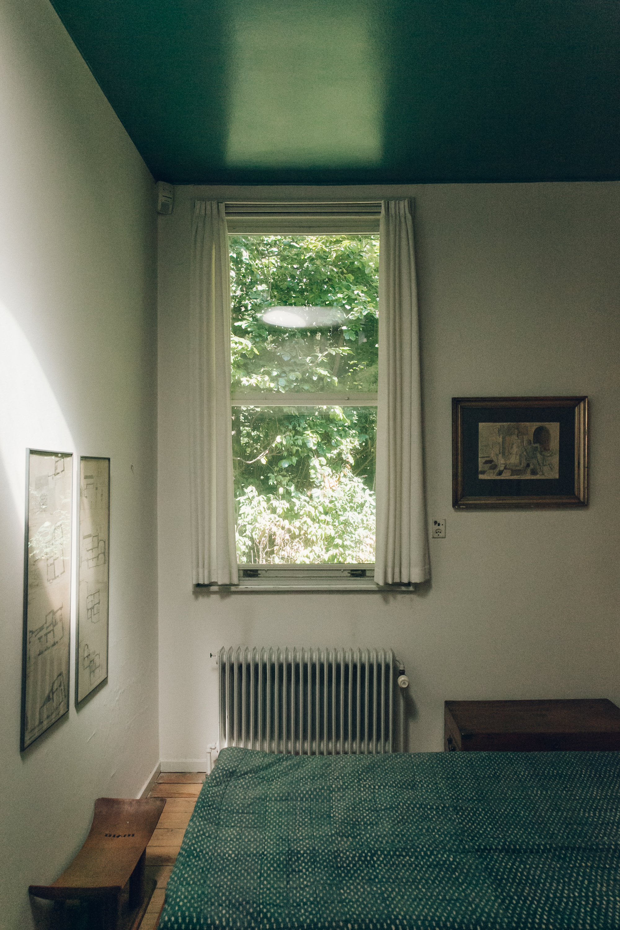 Small Bedroom at Finn Juhl's House Copenhagen