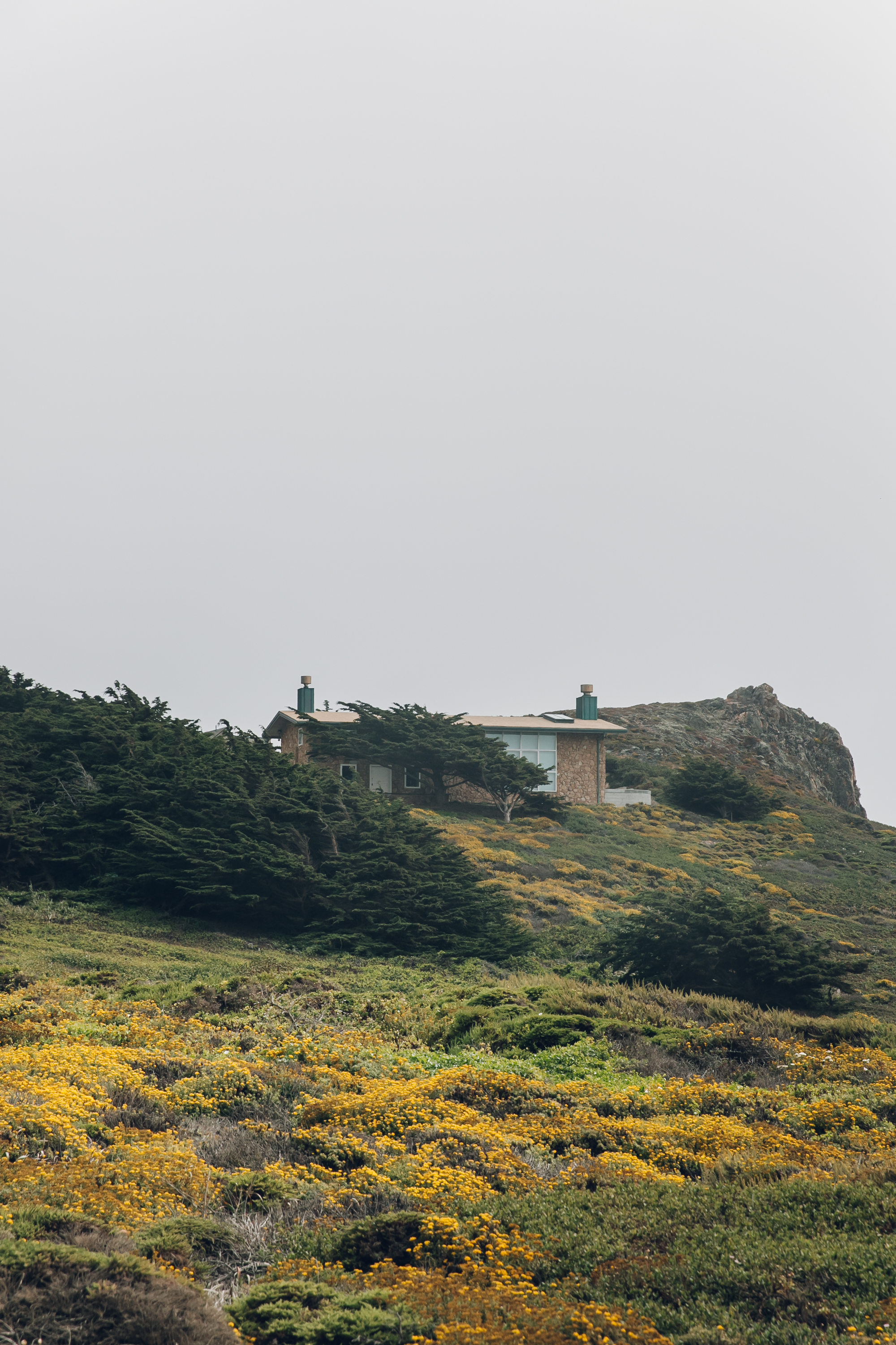 Big Sur Drive Route 1 California House on the Hill