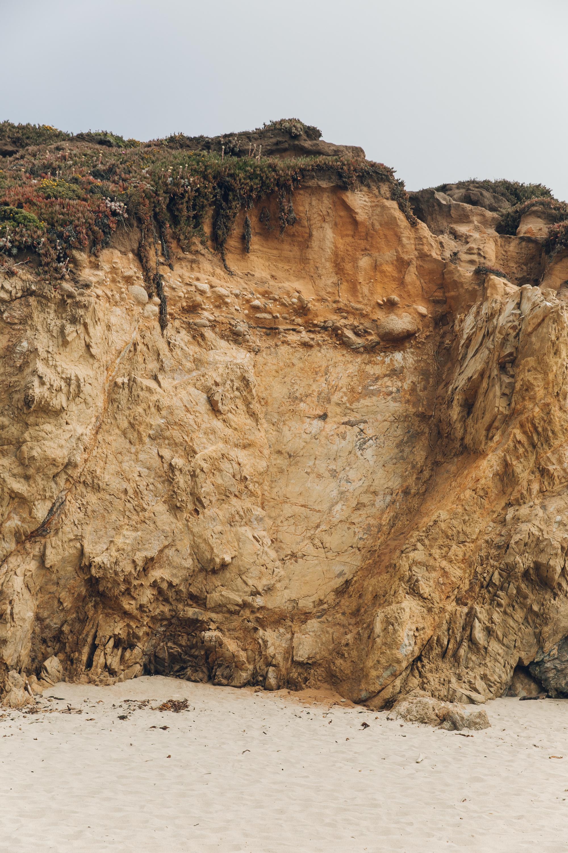 Big Sur Drive Route 1 California Rock Face