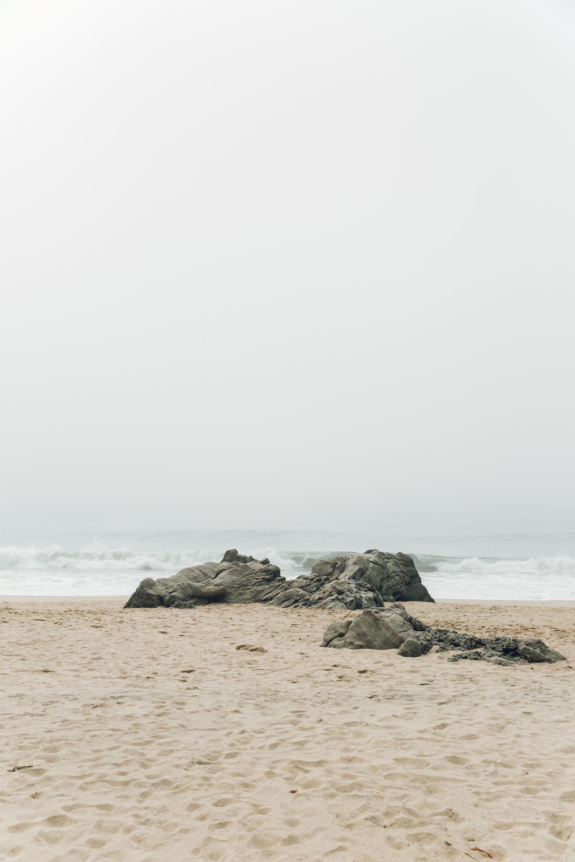 Big Sur Drive Route 1 California Rocks on Beach