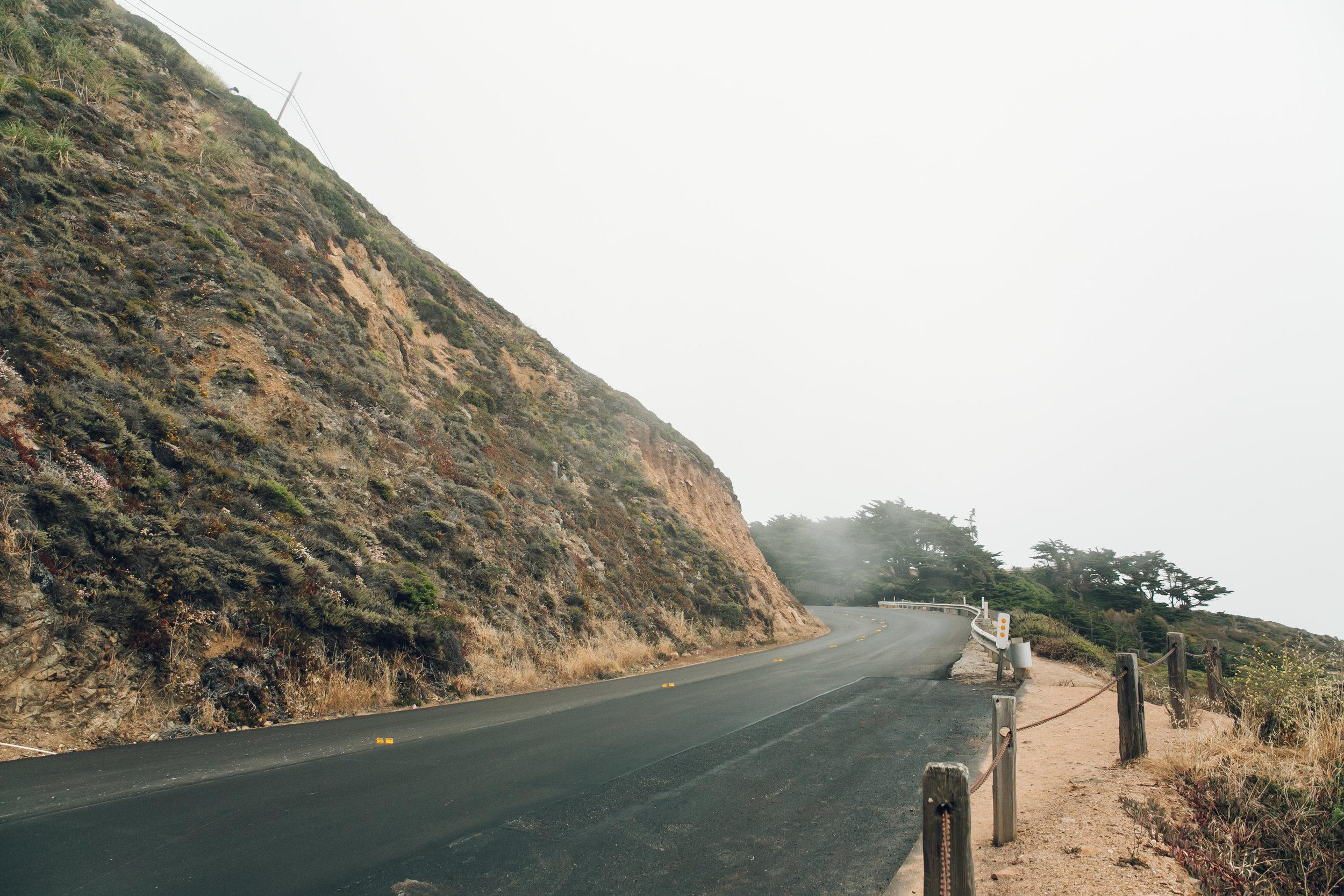 Big Sur Drive Route 1 California New Road
