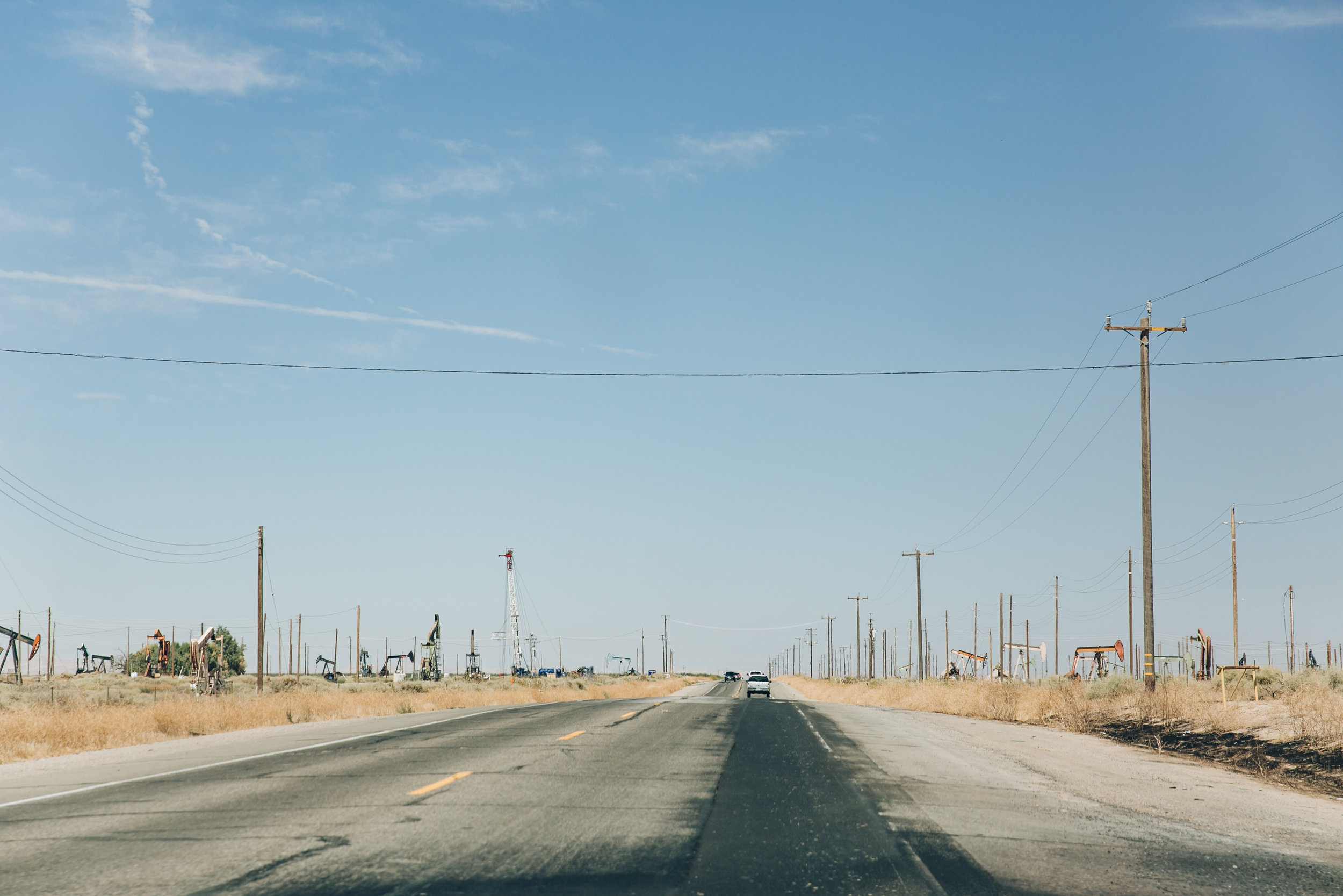 California road trip. Oil fields.