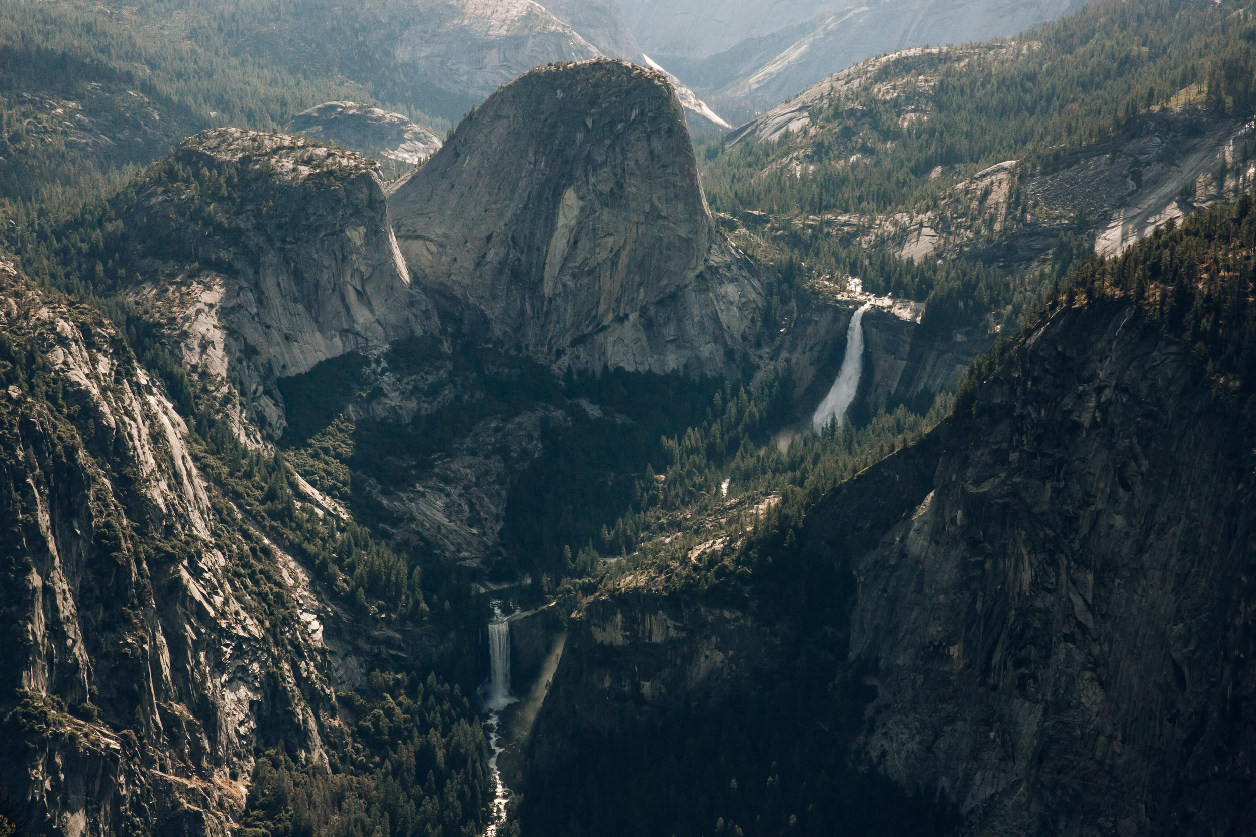 The view from Glacier Point in Yosemite National Park.
