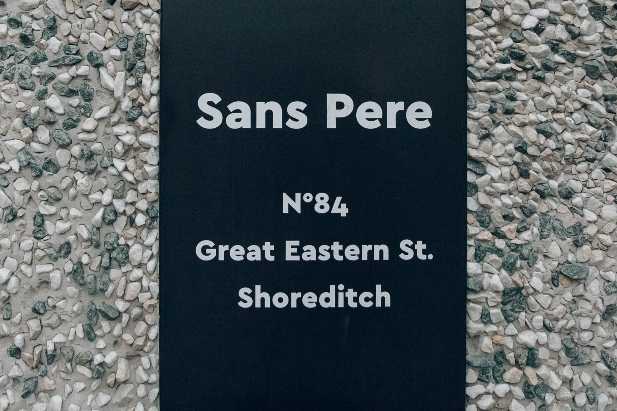 Sans Pere in Shoreditch, London.