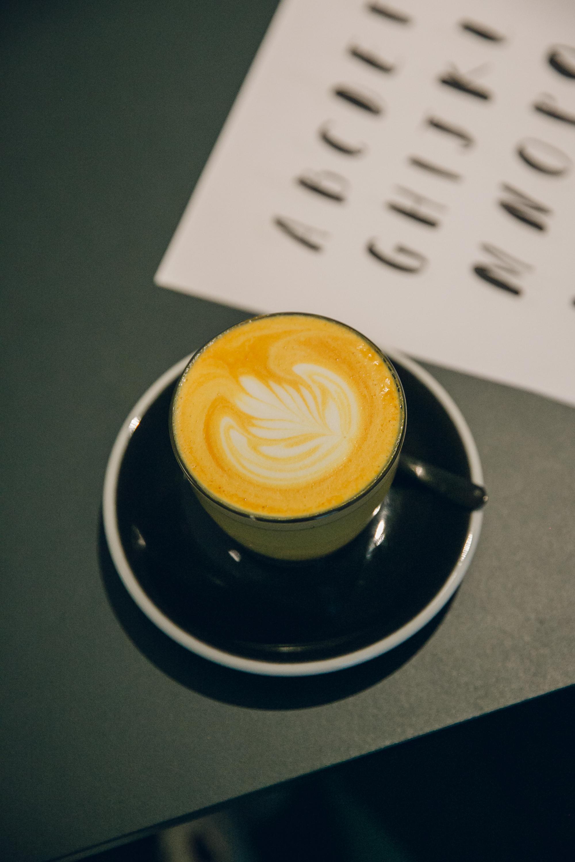 Turmeric Latte at Sans Pere in Shoreditch, London.