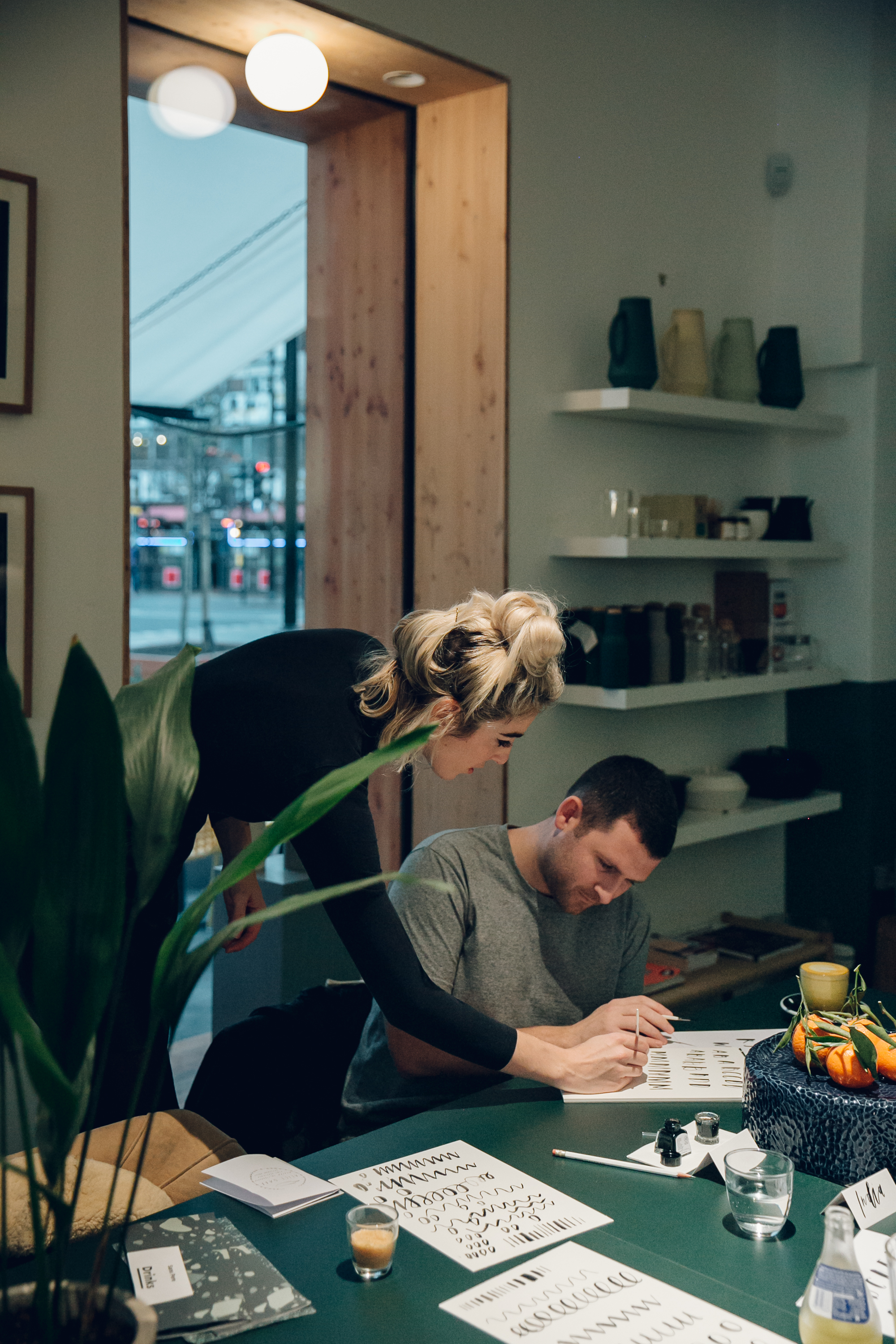 Brush Calligraphy in London with Airbnb Experiences and Alice Gabb.