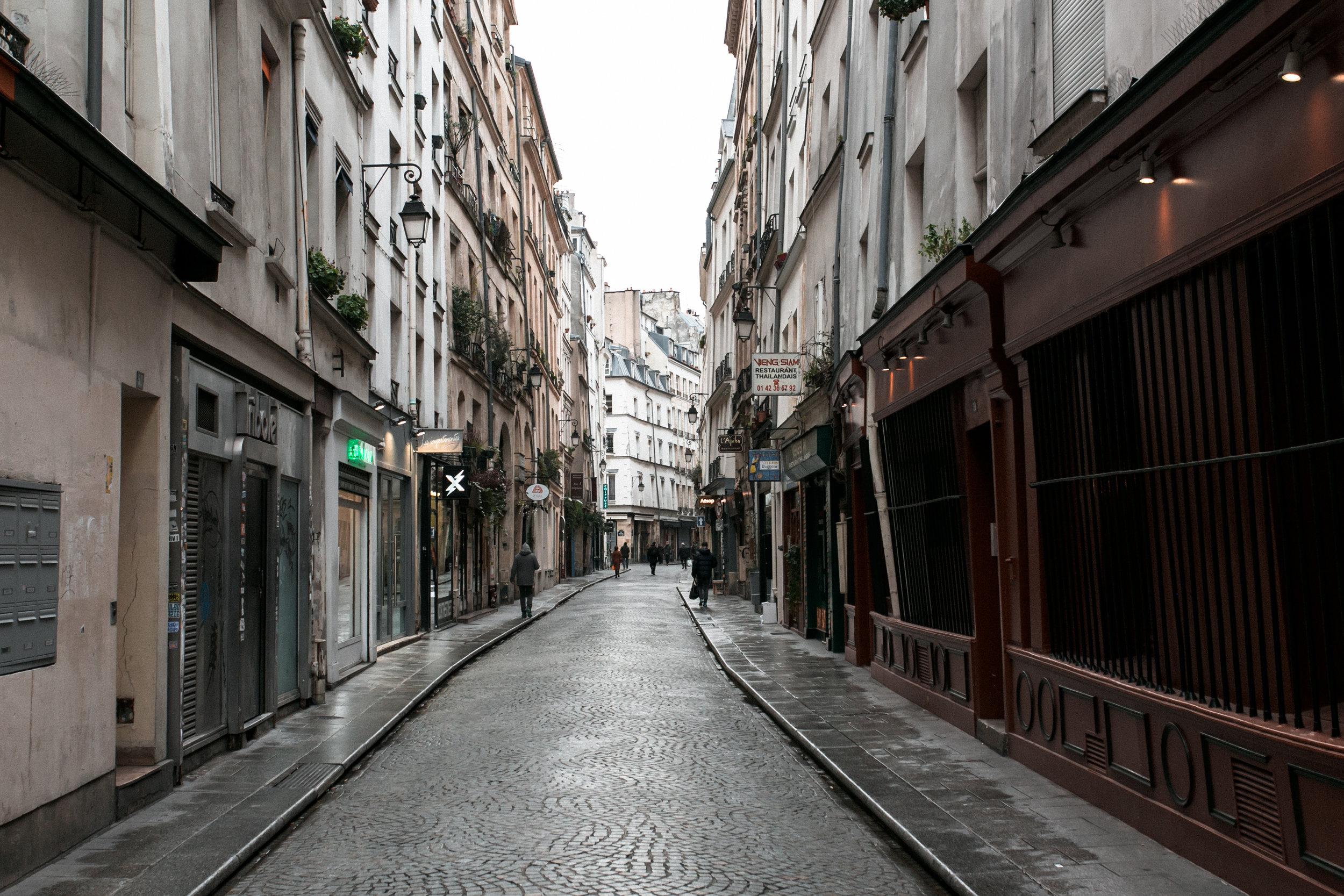 Paris in the Winter by Haarkon. Wandering in le Marais.