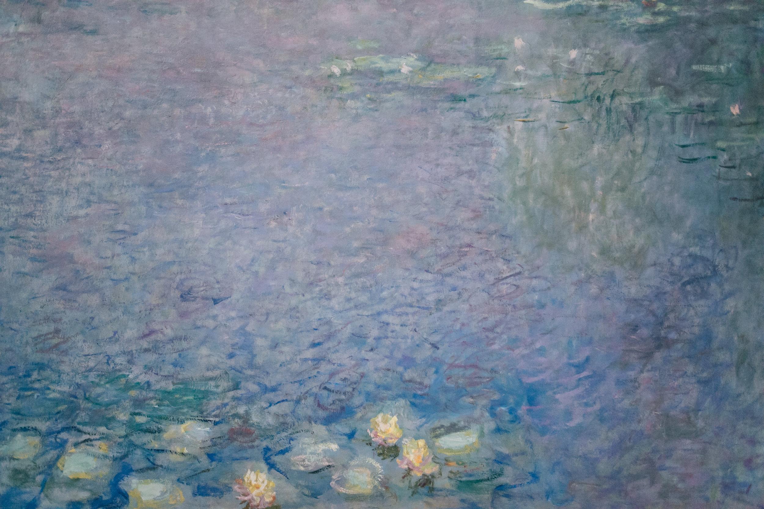 Paris in the Winter by Haarkon. Claude Monet's Waterlilies at Musee de L'Orangerie.