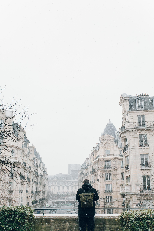 Paris in the Winter by Haarkon. Promenade Plantee in the snow.