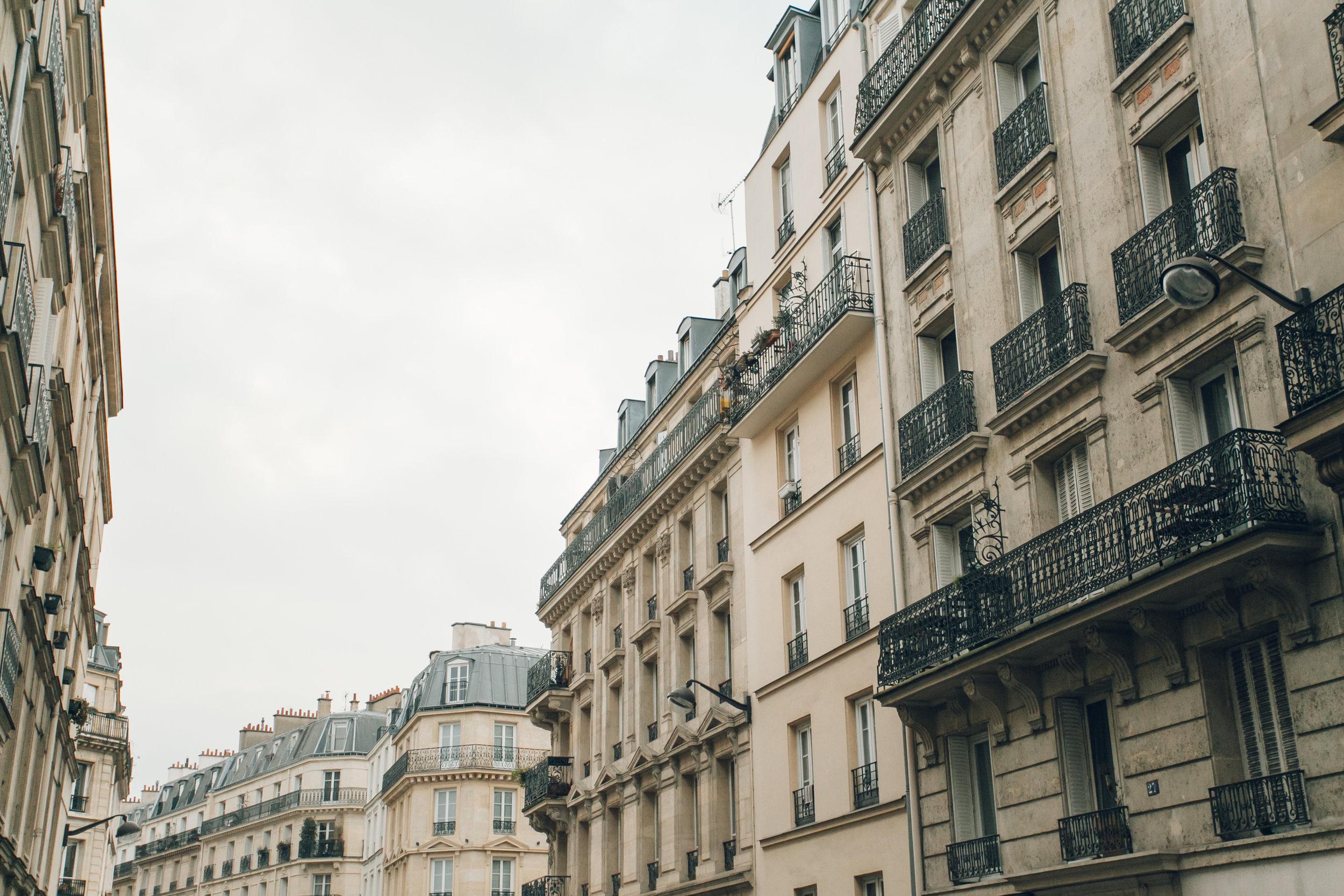 Paris in the Winter by Haarkon. Parisian Architecture.