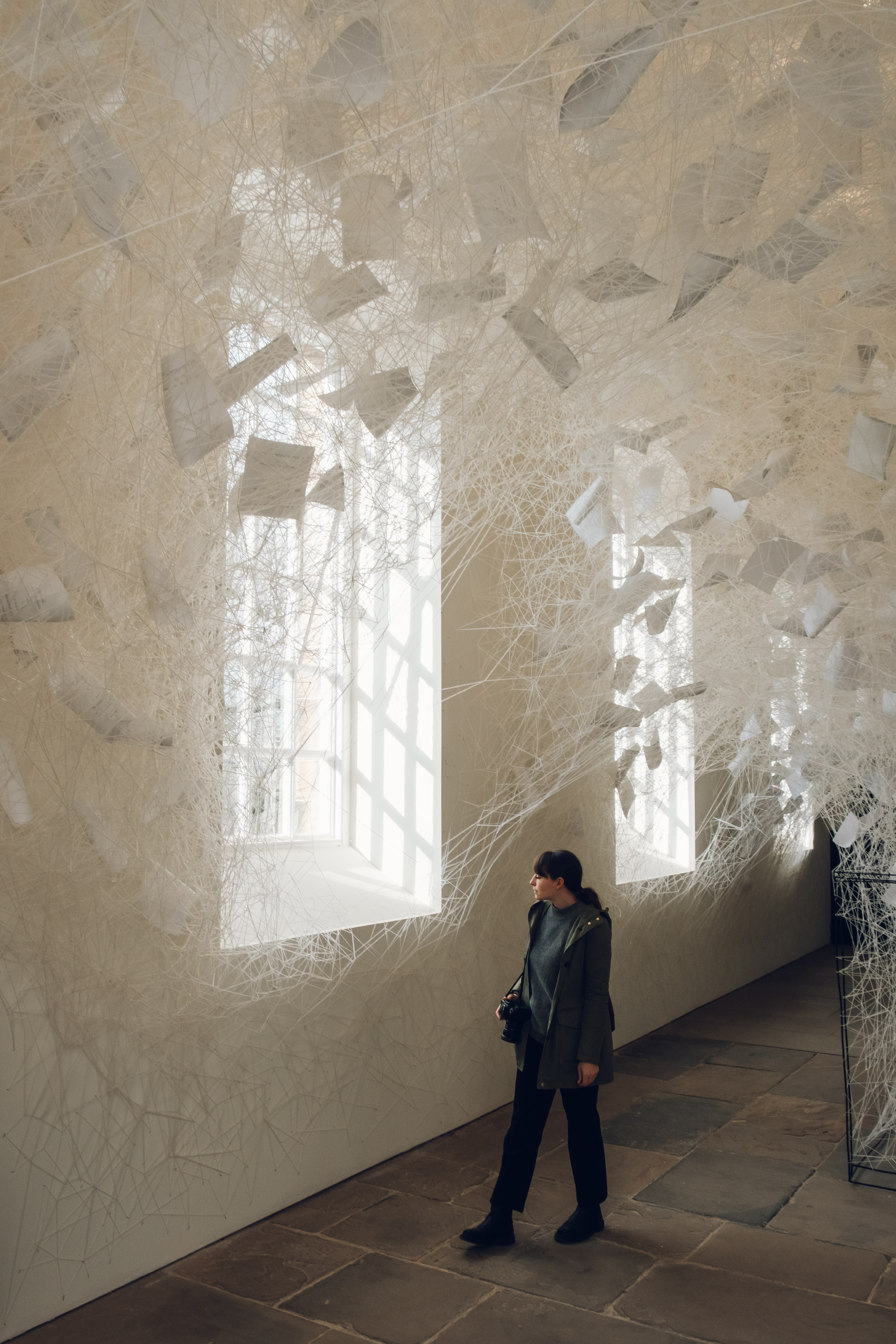 Chiharu Shiota 'Beyond Time' at Yorkshire Sculpture Park, photographed by Haarkon