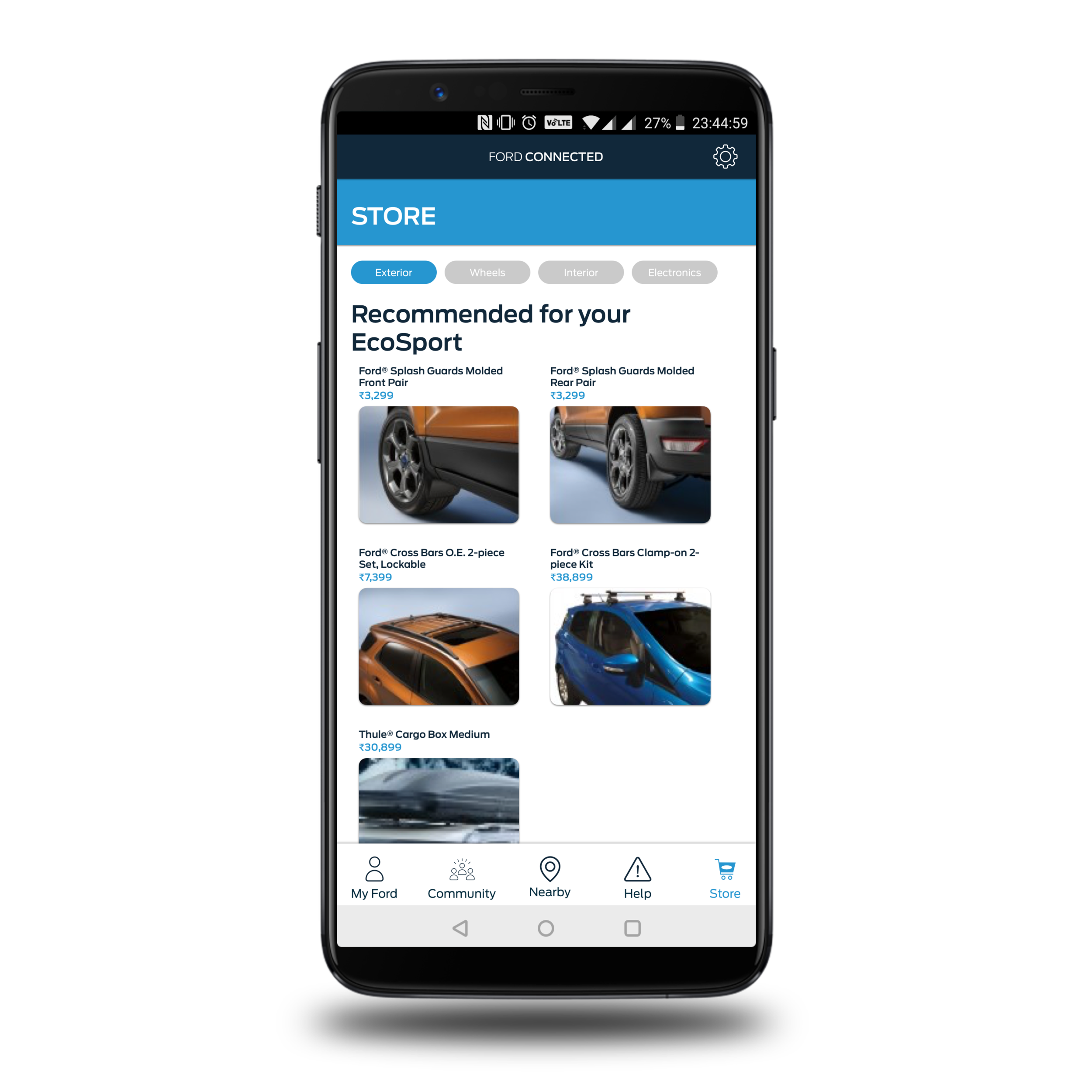 Aftermarket store - An aftermarket store tab for all the accessories, spares, maintenance tools, straight from Ford, in one place.