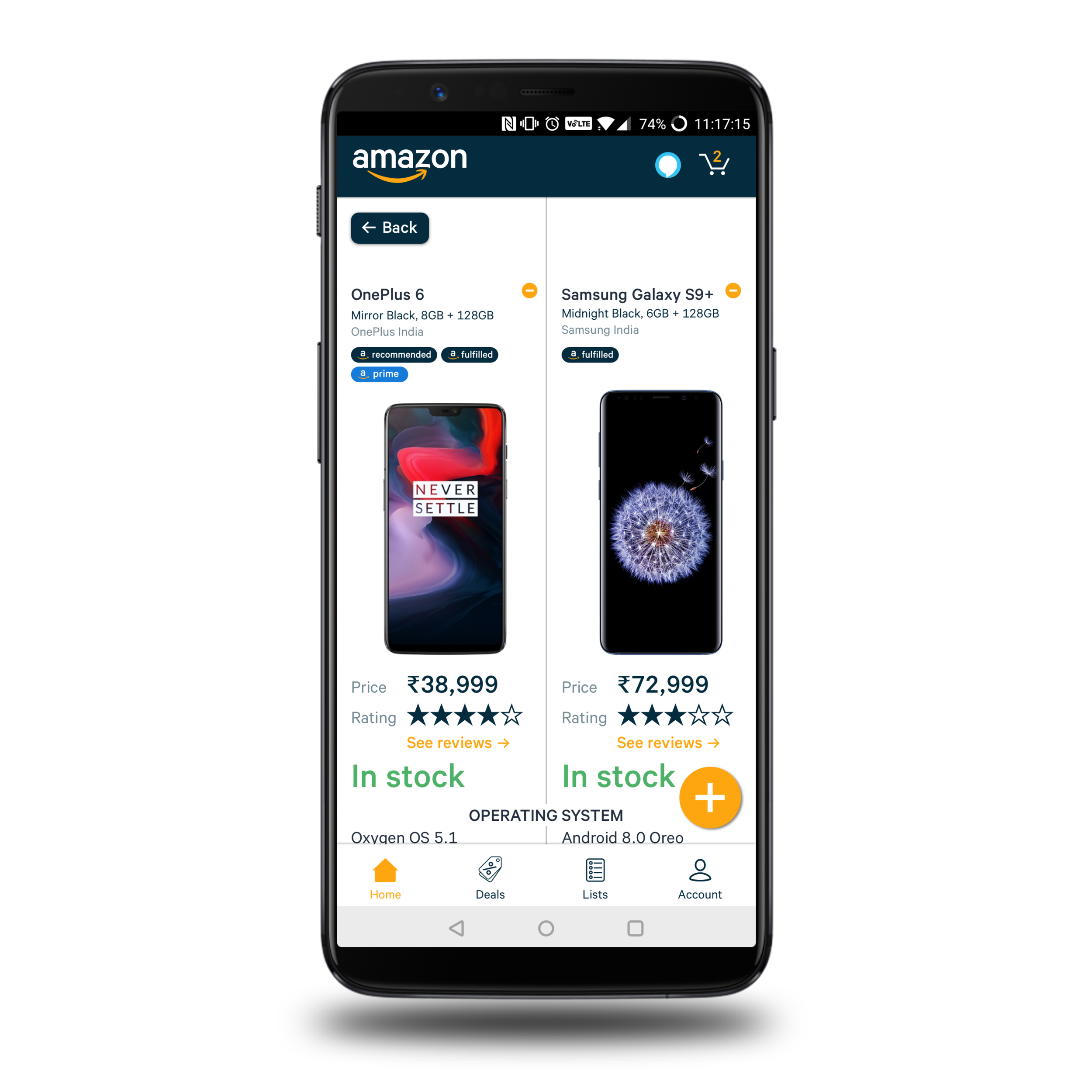 Compare side-by-side easily - People like to compare a broad range of items, and plan their purchases before making the final decision. Being able to compare products quickly and in-app helps speed up the purchase process.