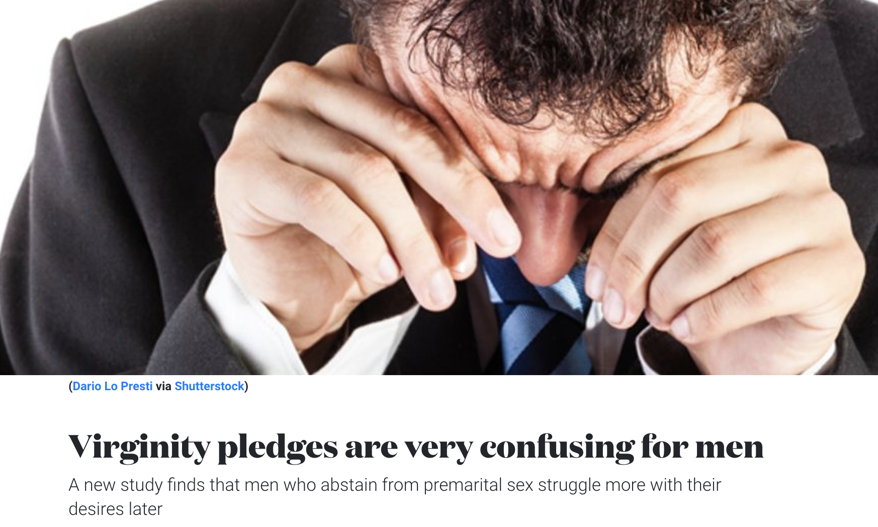 Virginity Pledges Are Very Confusing for Men