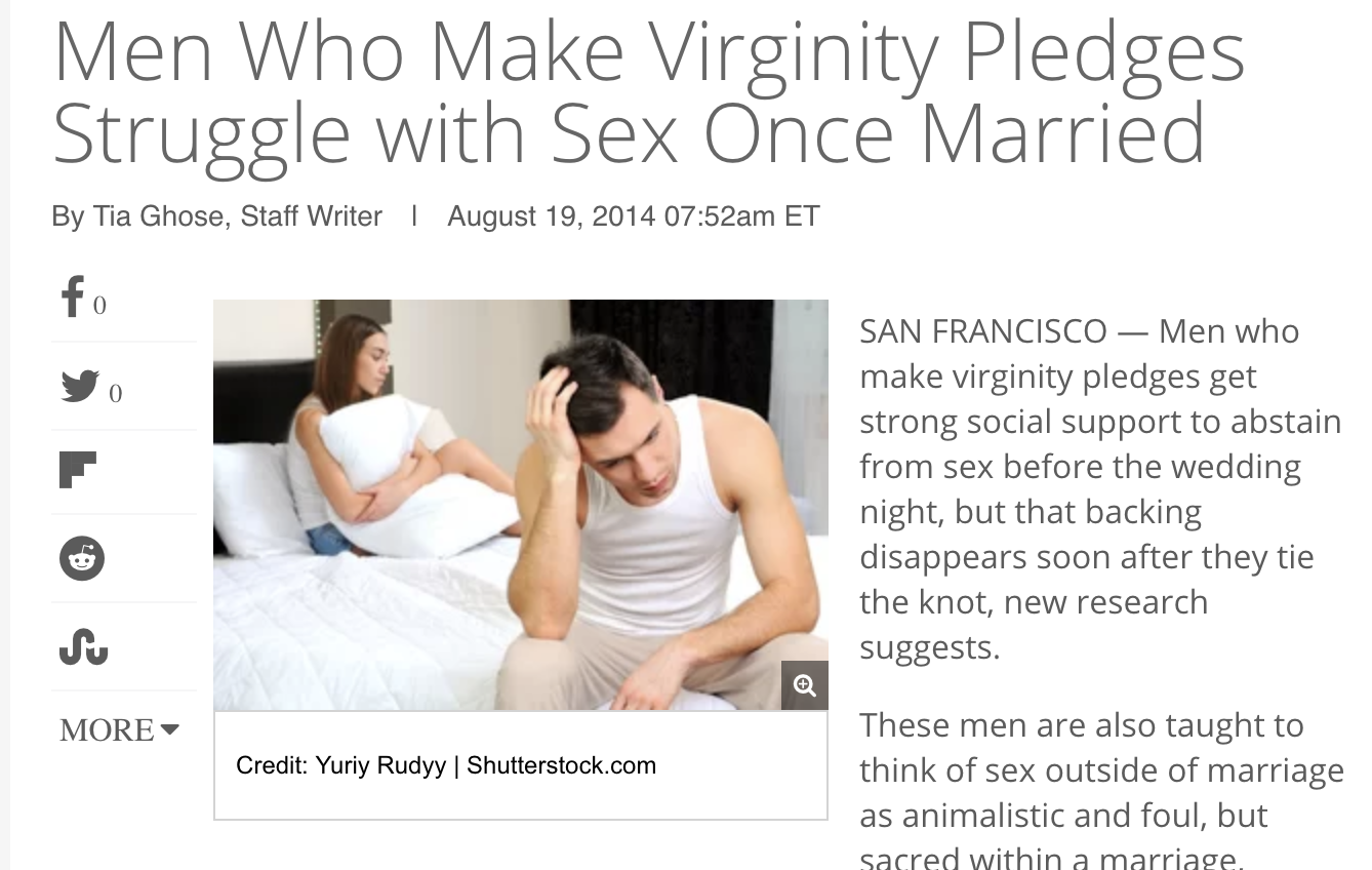 Men Who Make Virginity Pledges Struggle with Sex Once Married