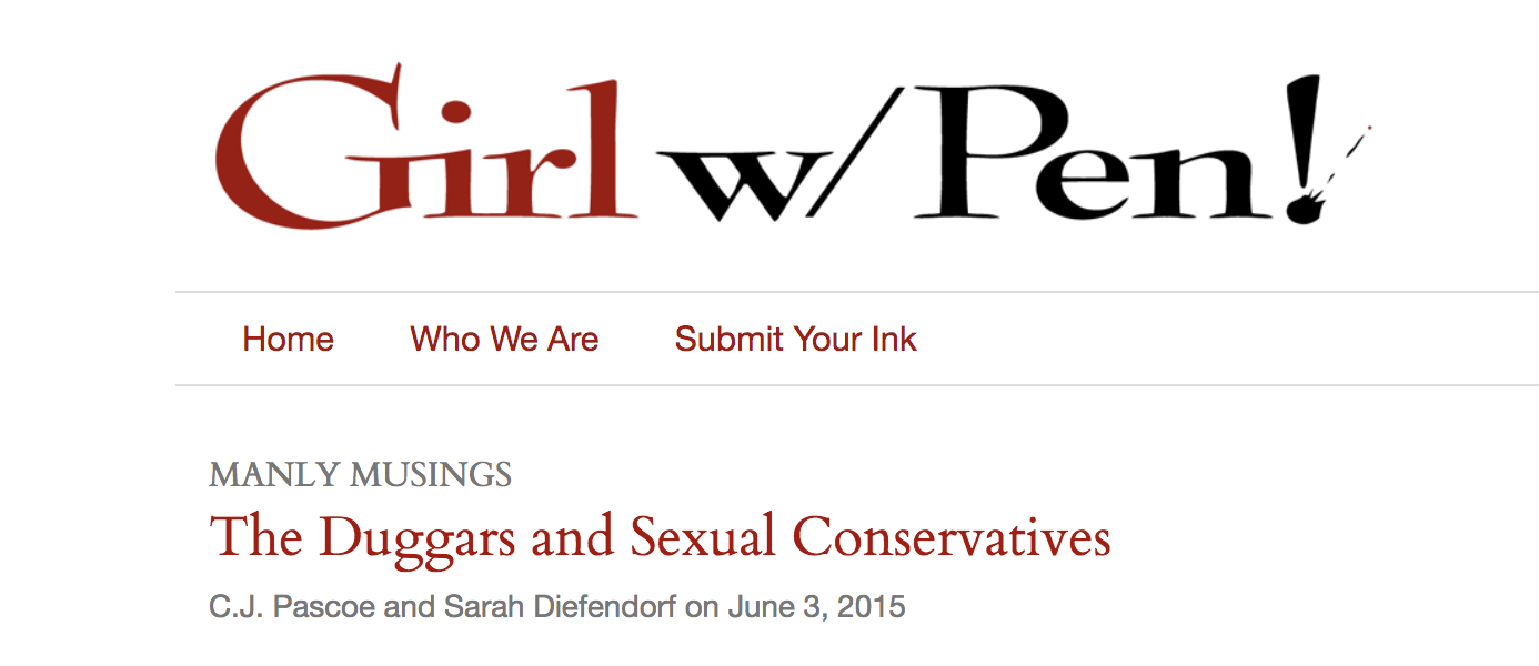 The Duggars and Sexual Conservatives