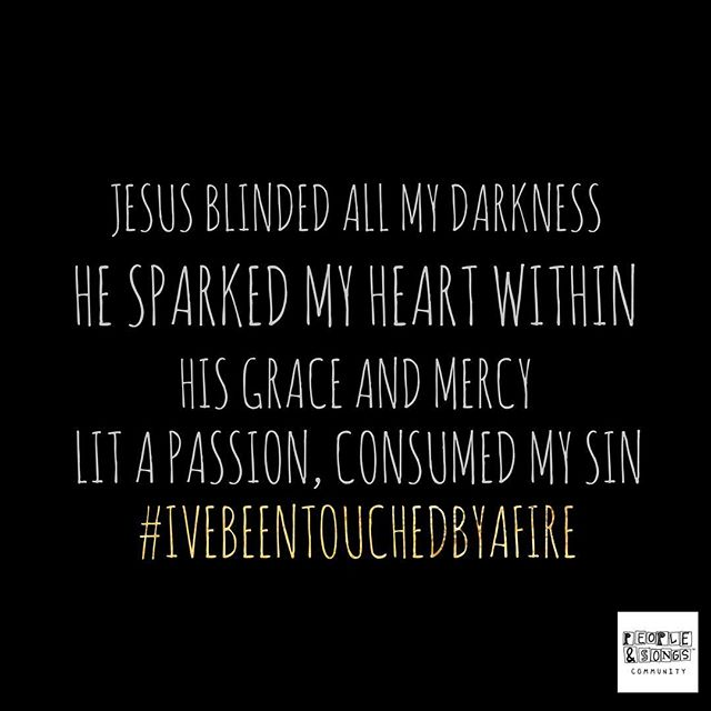"""Jesus blinded all my darkness, He sparked my heart within. His grace and mercy lit a passion, consumed my sin.."" #IveBeenTouchedByAFire was written at the @emergingsound by: @jennieleeriddle, @madcapmelanie, @scartermusic, @lukecyrusband and students.  The Emerging Sound camp, hosted by @peopleansongs, is just around the corner! If you know of any young aspiring artists, songwriters, or worship leaders, the #EmergingSound is truly an amazing way to build a foundation for their creative ministry and we would love for them to join us!"