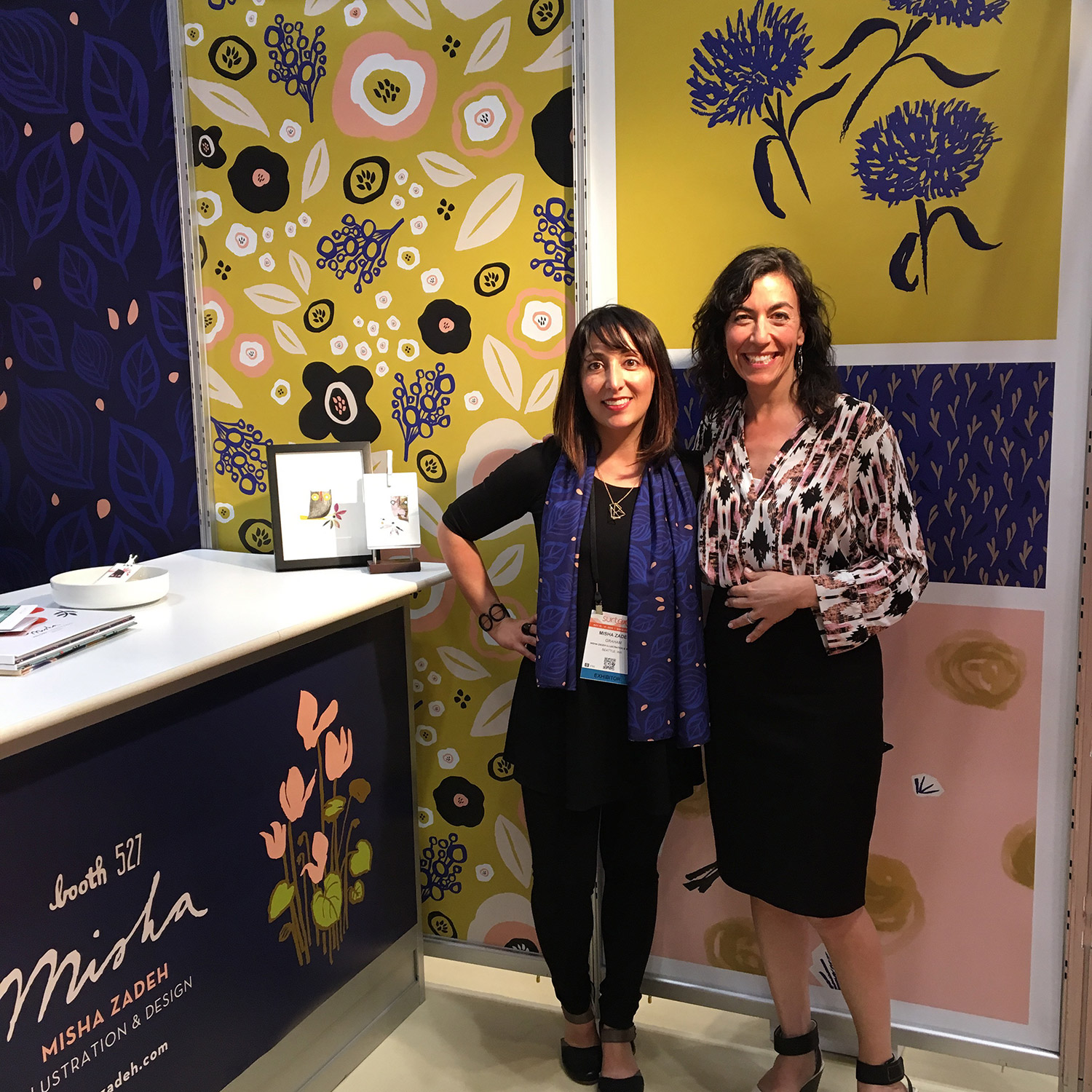 Misha Zadeh: SURTEX 2016: Booth 527: Misha and Claudia