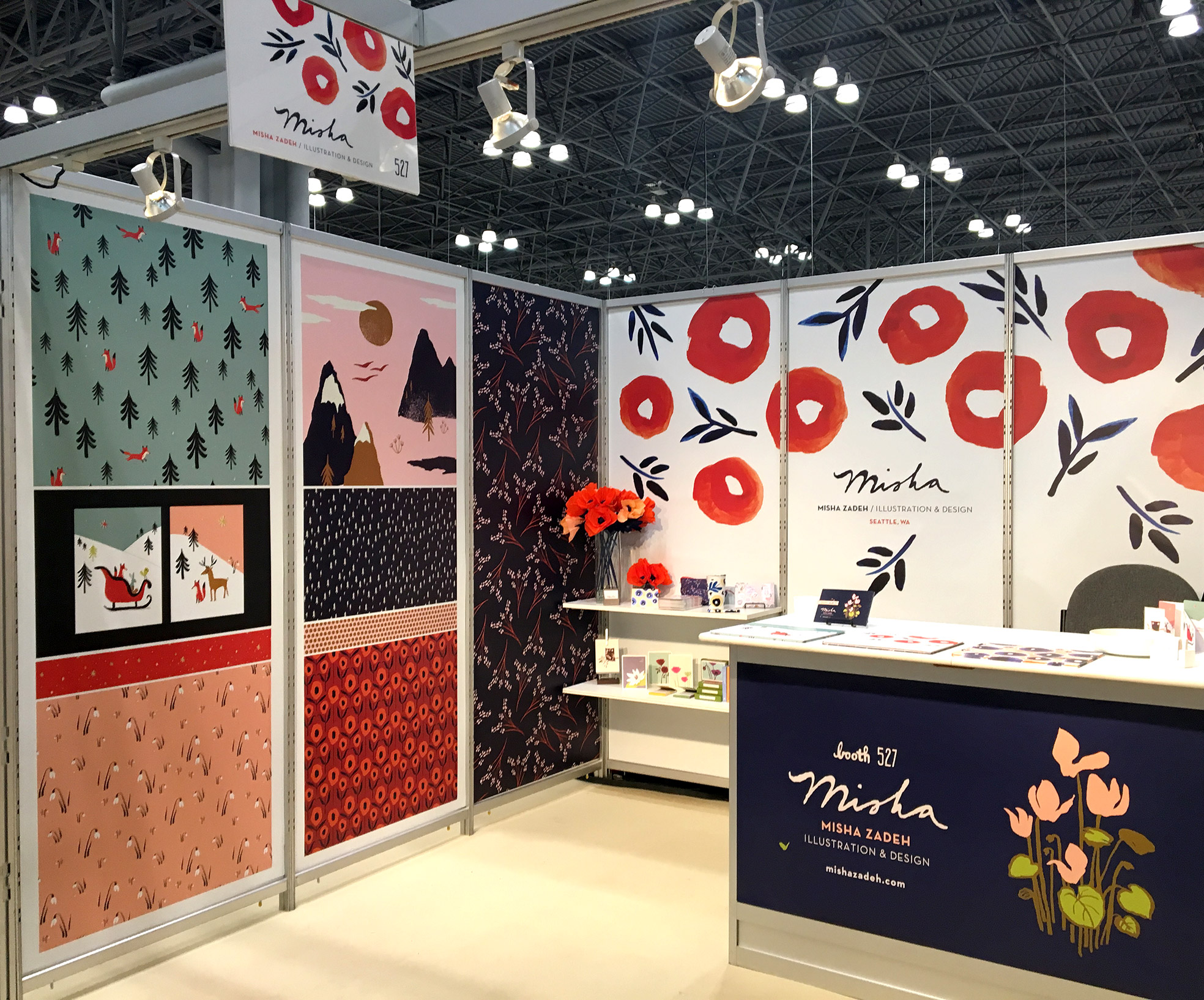 Misha Zadeh: SURTEX 2016: Booth 527, Left Side