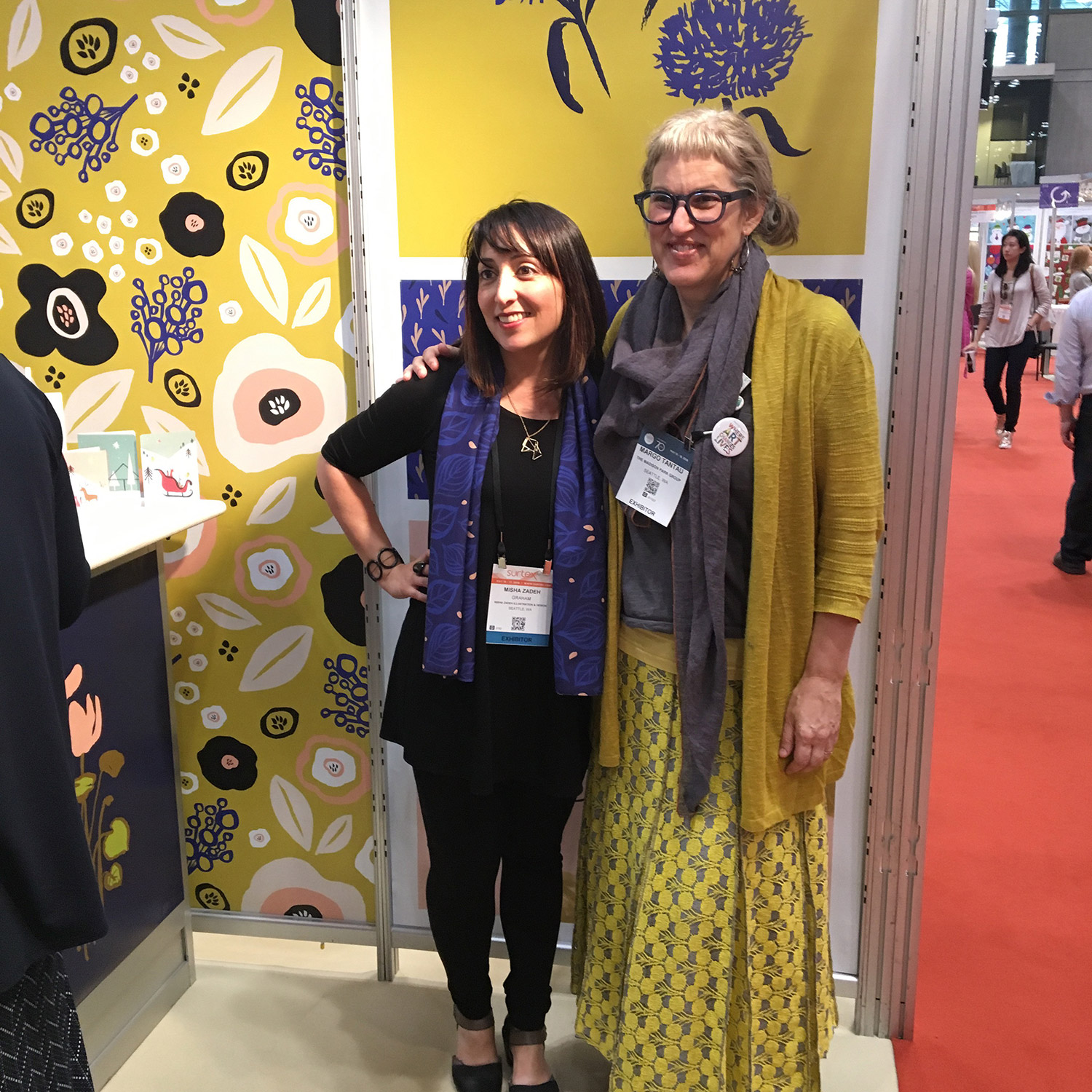 Margo Matches Misha's SURTEX Booth!