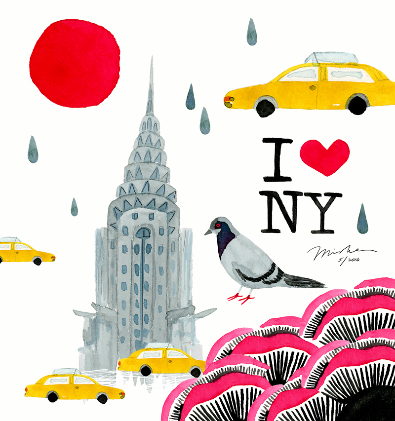 A little illustration about my experience at SURTEX in Manhattan in May. A little rain, a little luck, and a whole lot of passion and heart in NYC.