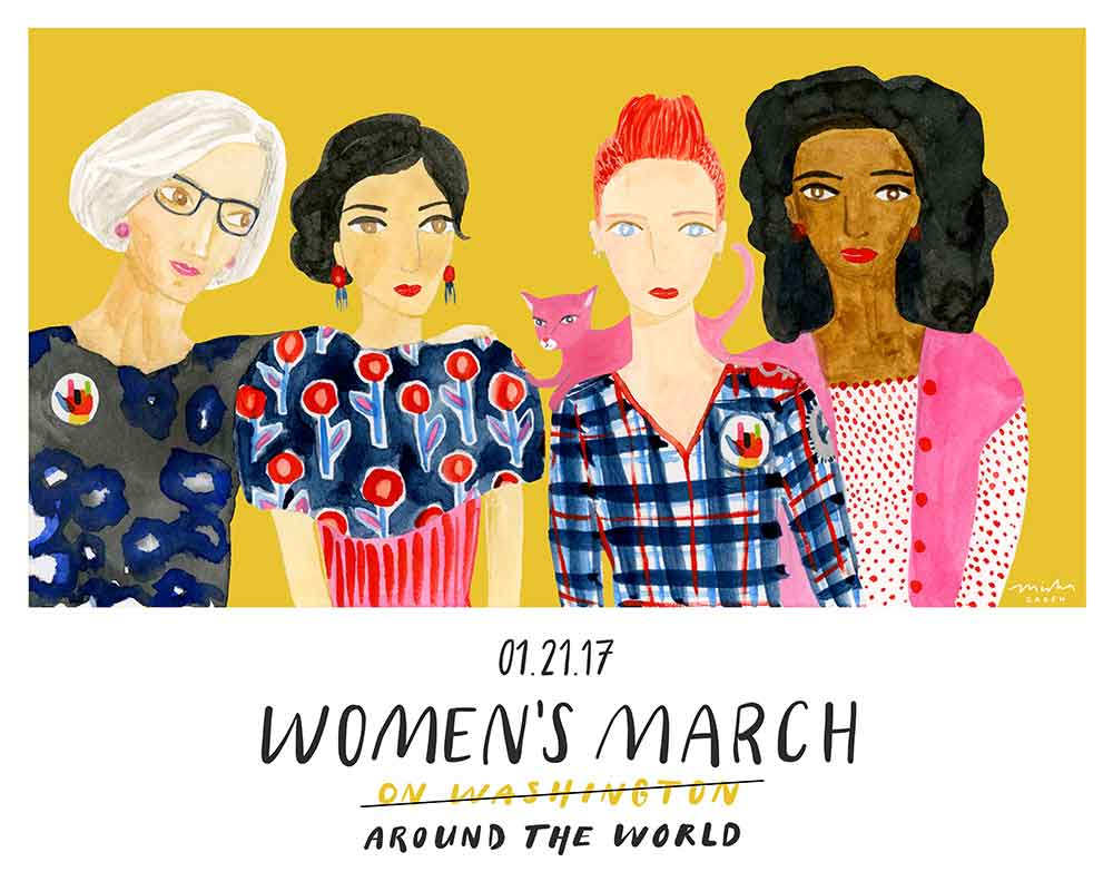 Women's March print by Misha Zadeh