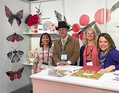 Alan Friedman of Great Arrow catching up with the Misha Zadeh team at Surtex 2017.