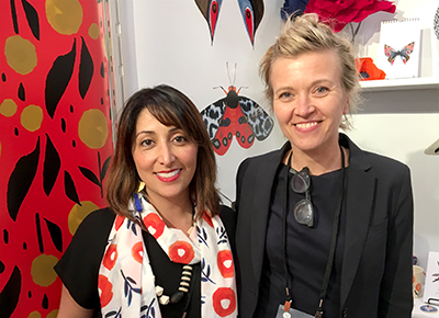 Designers Misha Zadeh and Lotta Jansdotter at Surtex 2017