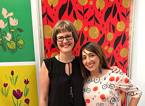 Designers Diane Kappa and Misha Zadeh at Surtex 2017