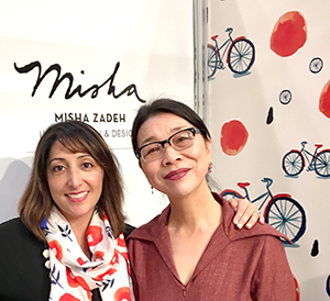 Artists Enju Kang and Misha Zadeh at Surtex 2017