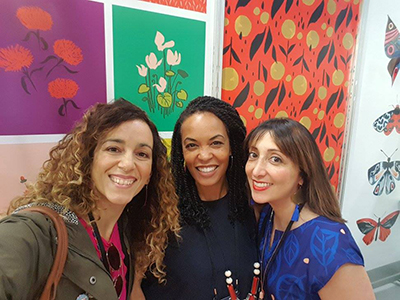 Artists Dariana Cruz, Jeanetta Gonzales, and Misha Zadeh at Surtex 2017
